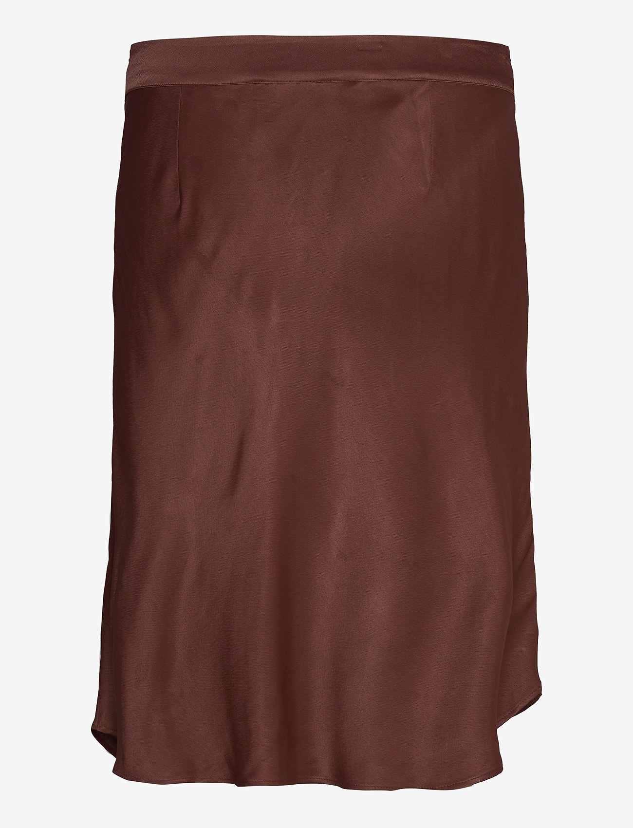 Second Female - Short viscose skirt with zipper closure. - midi skjørt - carob brown - 1