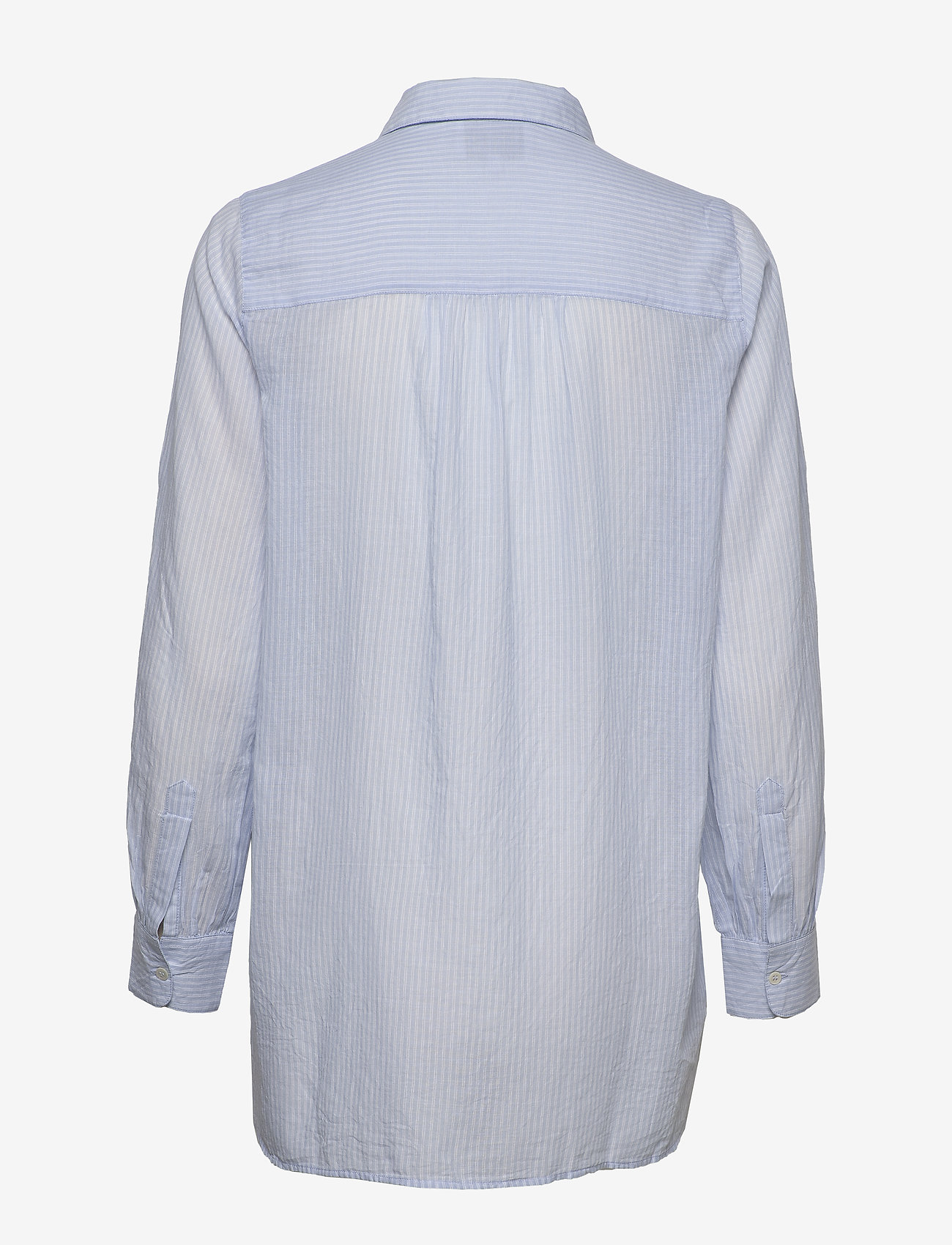 Second Female - Dominus LS Shirt - langærmede skjorter - chambray blue - 1