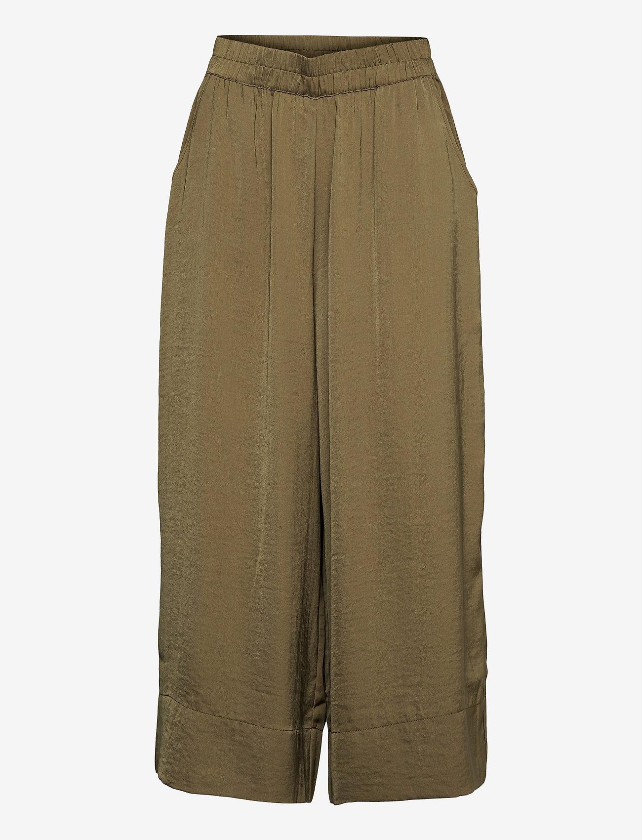 Second Female - Minga New Trousers - bukser med brede ben - stone green - 0