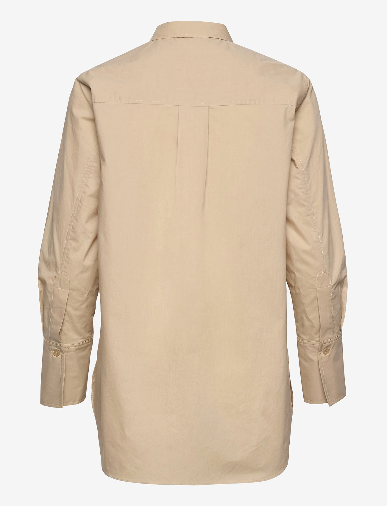 Second Female - Larkin LS Classic Shirt - långärmade skjortor - humus - 1