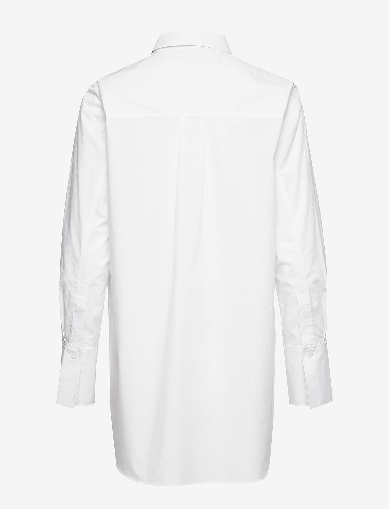 Second Female - Larkin LS Classic Shirt - långärmade skjortor - white alyssum - 1