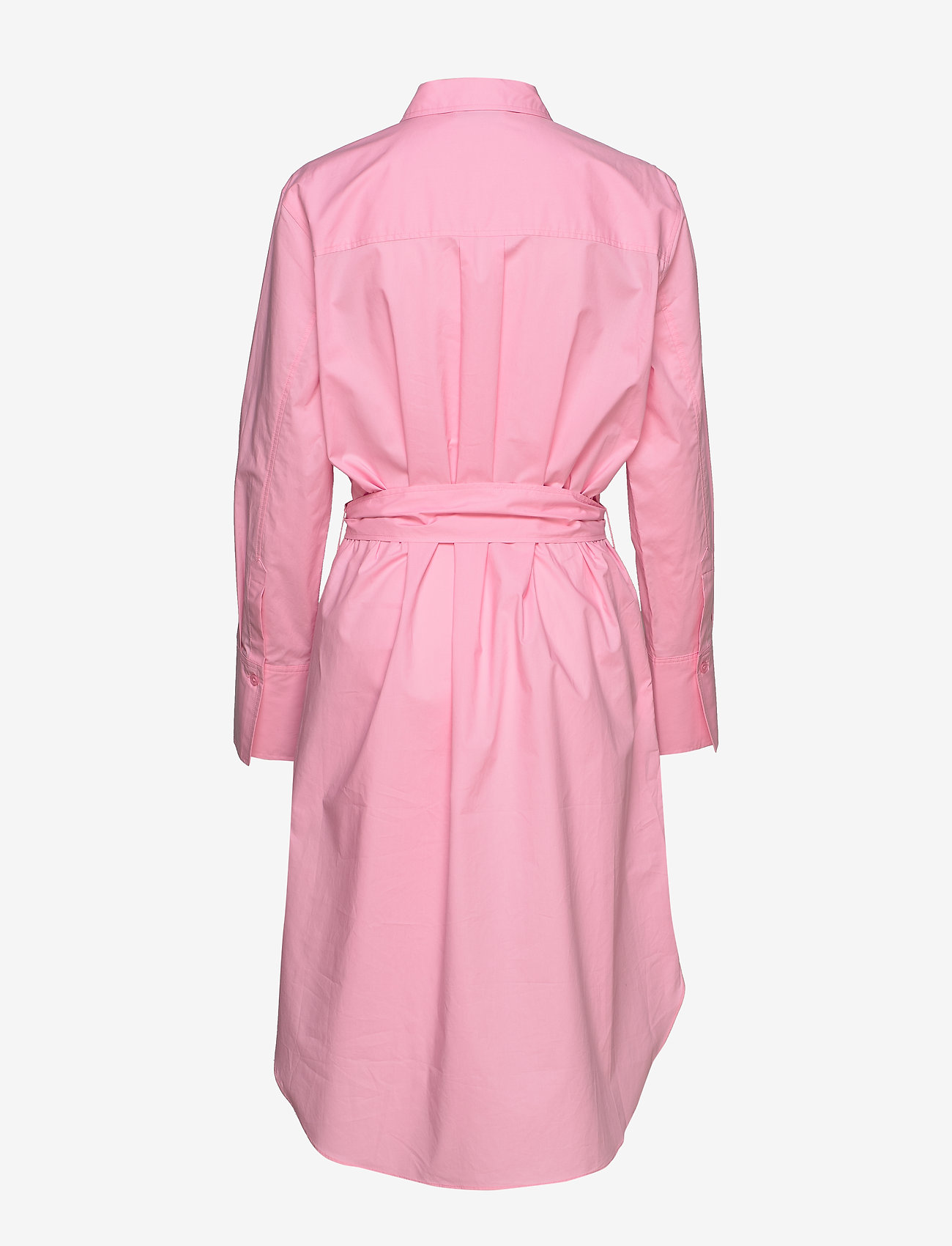 Second Female - Larkin LS Midi Shirt Dress - skjortekjoler - prism pink - 1