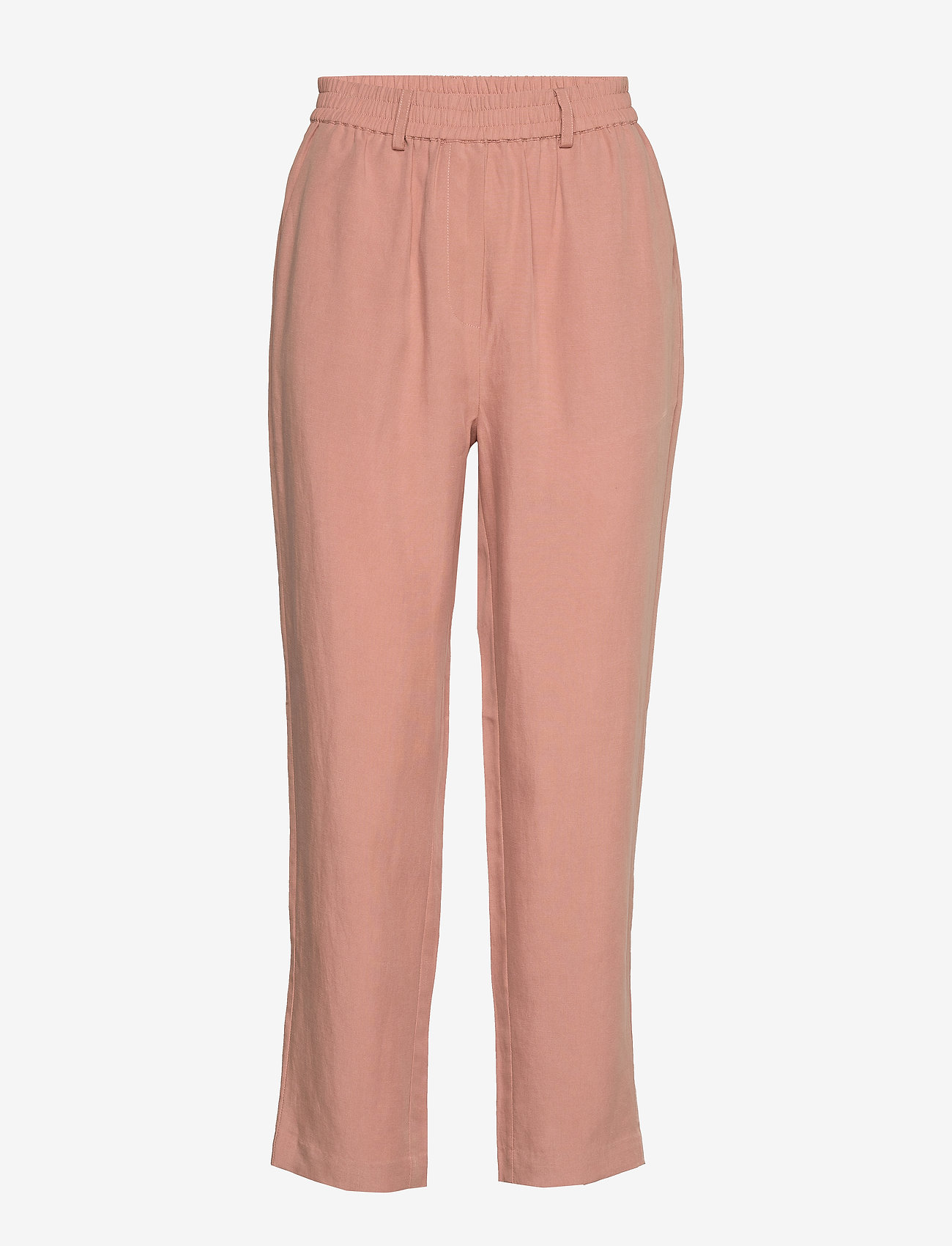 Second Female - Nukani MW Trousers - rette bukser - mocha mousse - 1