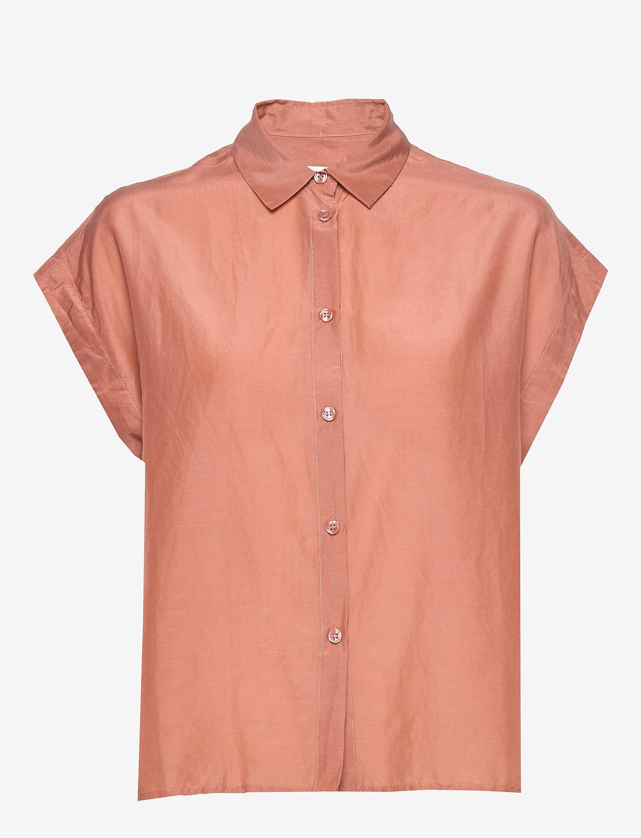 Second Female - Auso Shirt - chemises à manches courtes - mocha mousse - 1