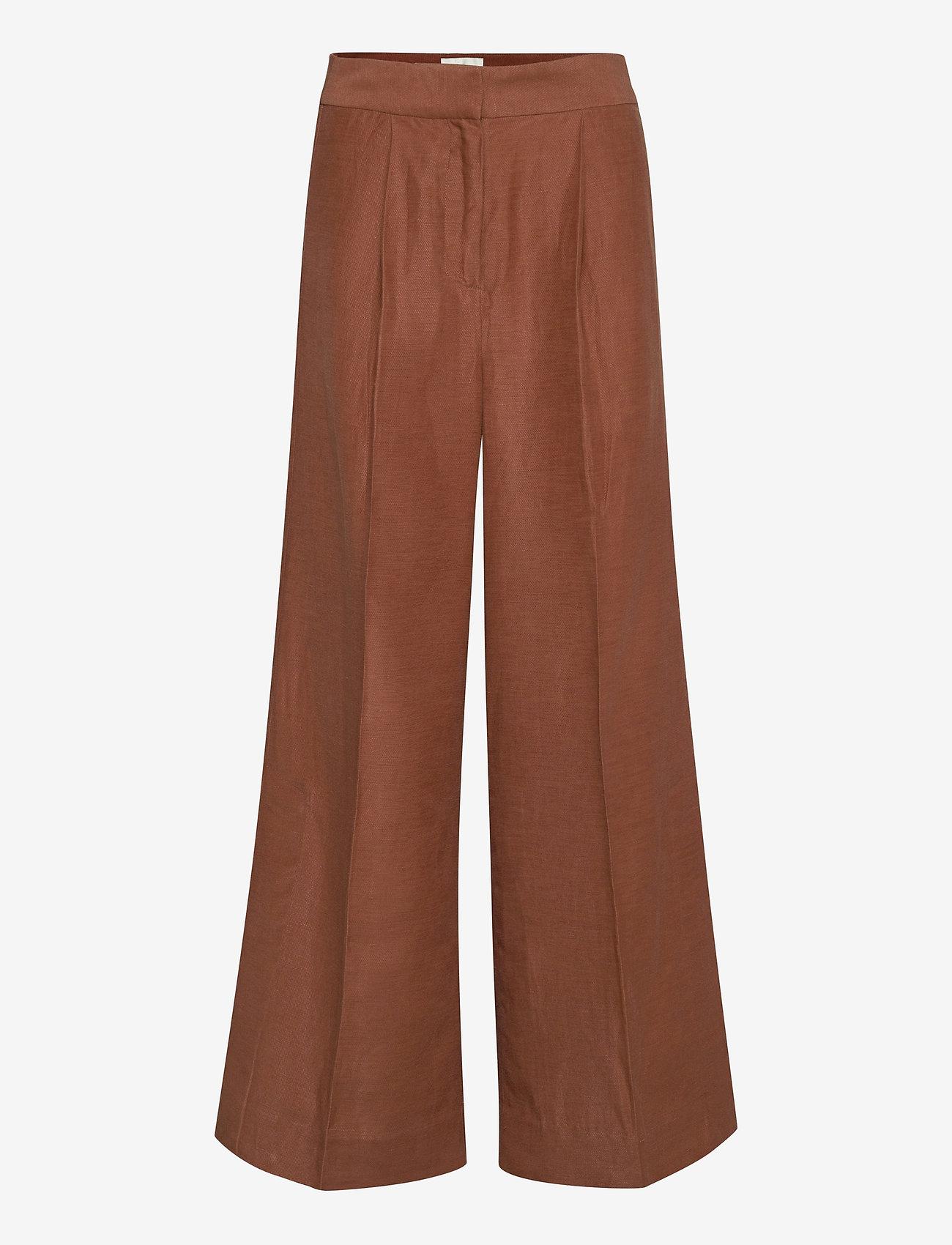 Second Female - Lia Trousers - vide bukser - carob brown - 1