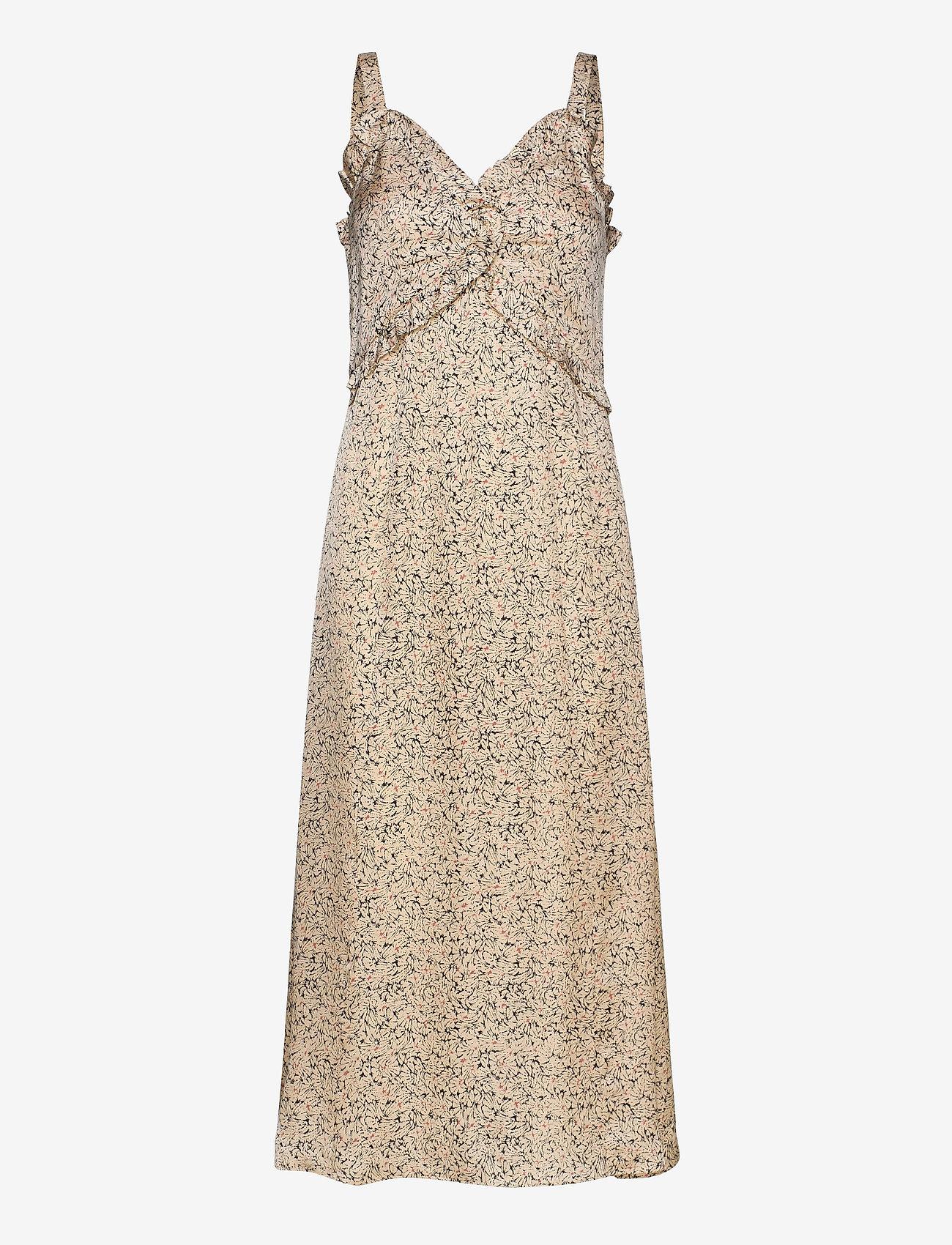 Second Female - Neomitre Strap Dress - vardagsklänningar - macadamia - 0