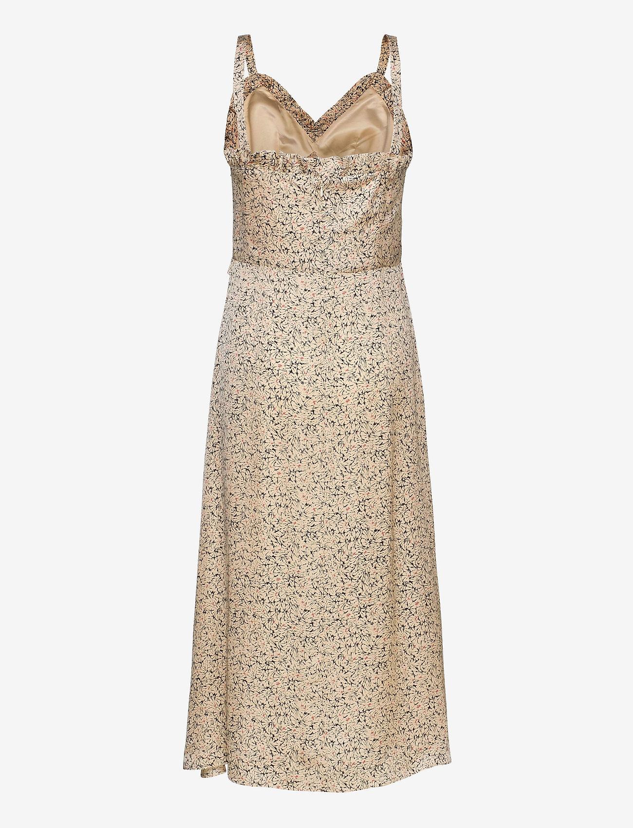Second Female - Neomitre Strap Dress - vardagsklänningar - macadamia - 1