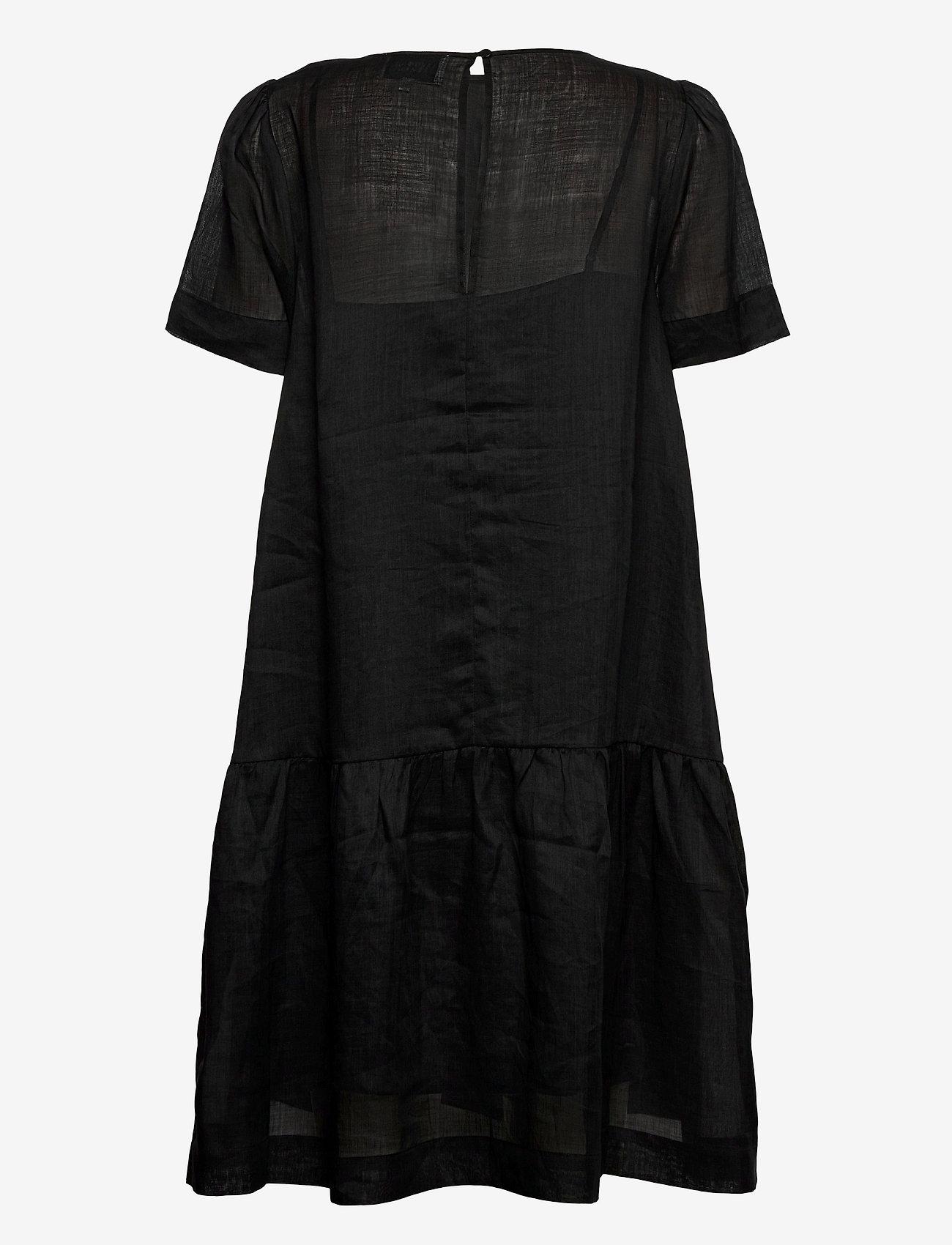 Second Female - Aida Dress - midiklänningar - black beauty - 1