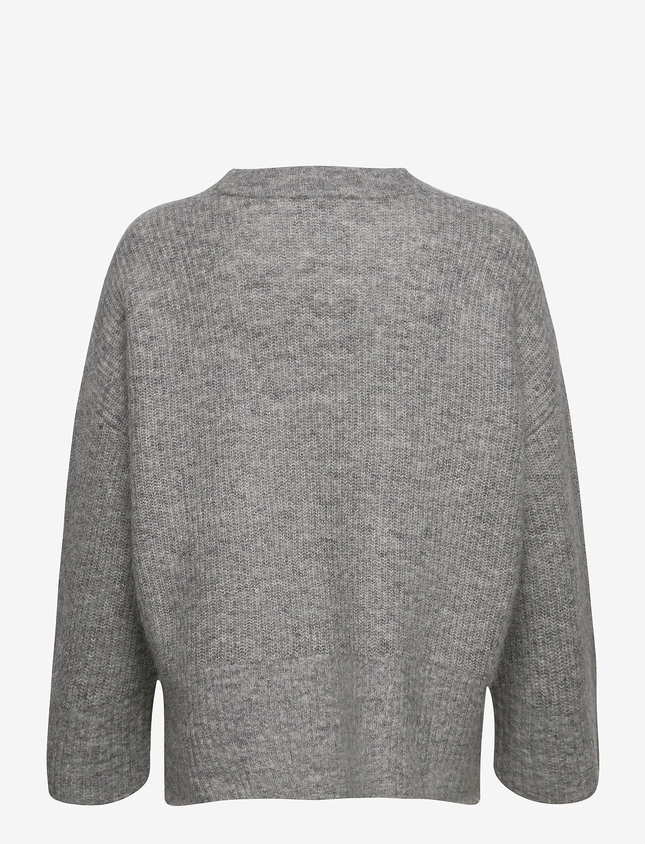 Second Female - Koorb Knit O-Neck - tröjor - grey melange - 1