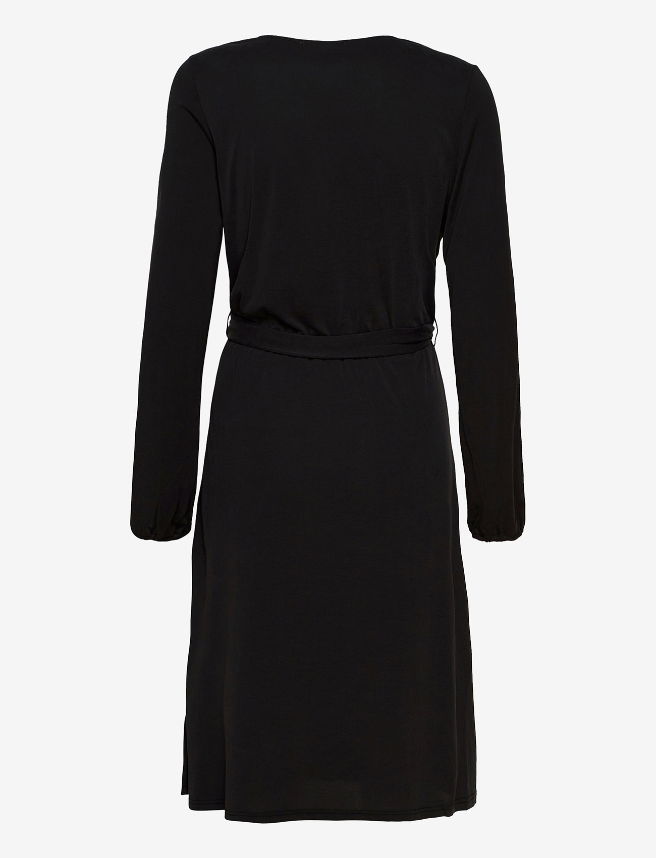 Second Female - Missa Drape Dress - midiklänningar - black - 1