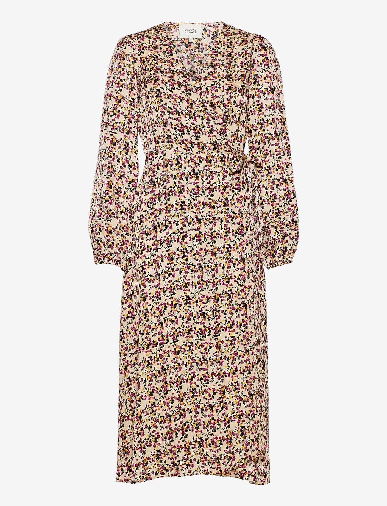 Second Female - Decor Wrap Dress - slå-om-kjoler - marzipan - 0