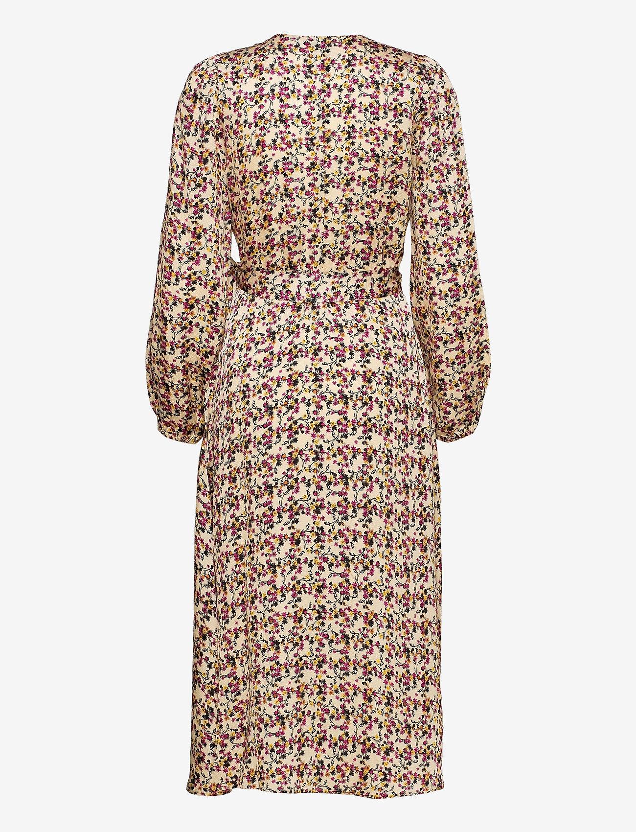 Second Female - Decor Wrap Dress - slå-om-kjoler - marzipan - 1