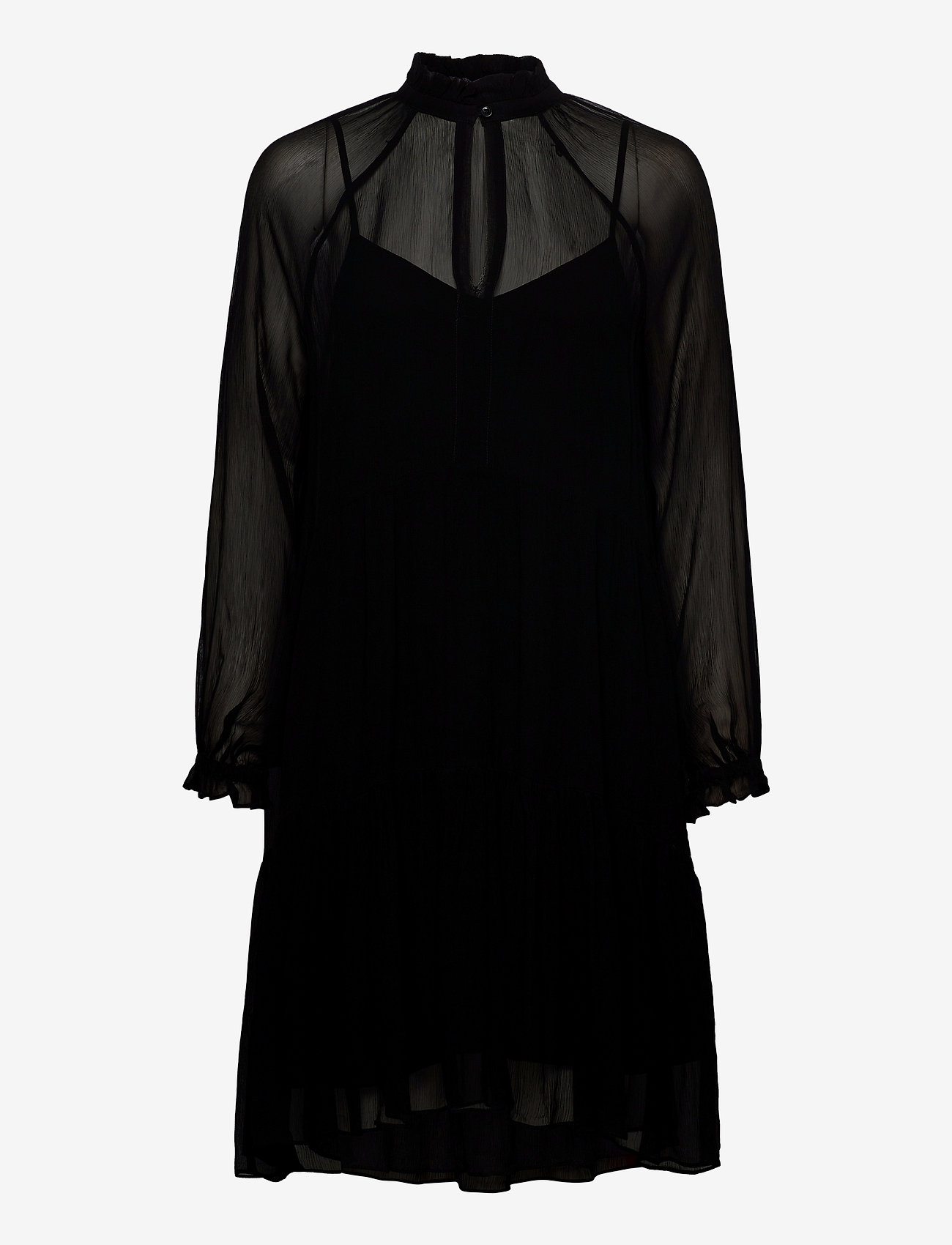 Second Female - Tul Dress - midiklänningar - black - 0
