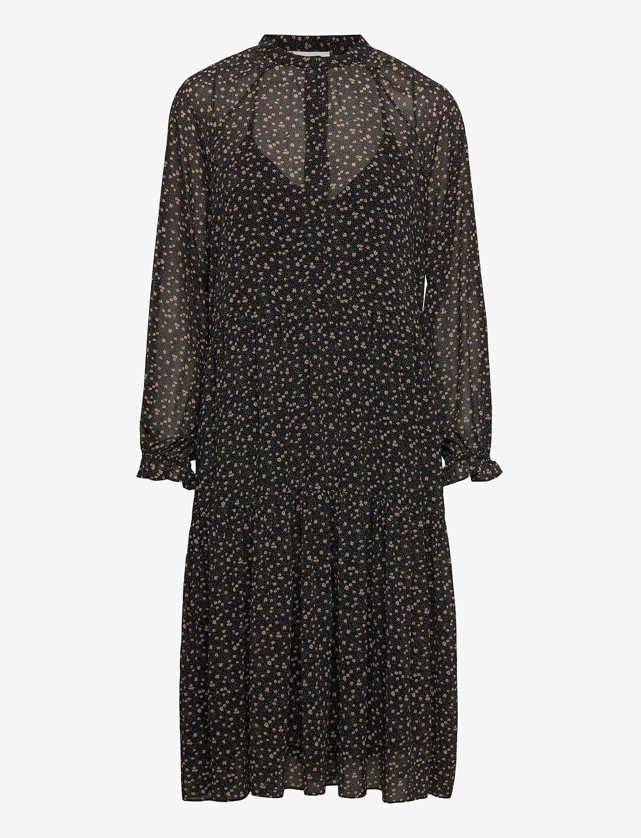 Second Female - Della Dress - midiklänningar - caviar - 0