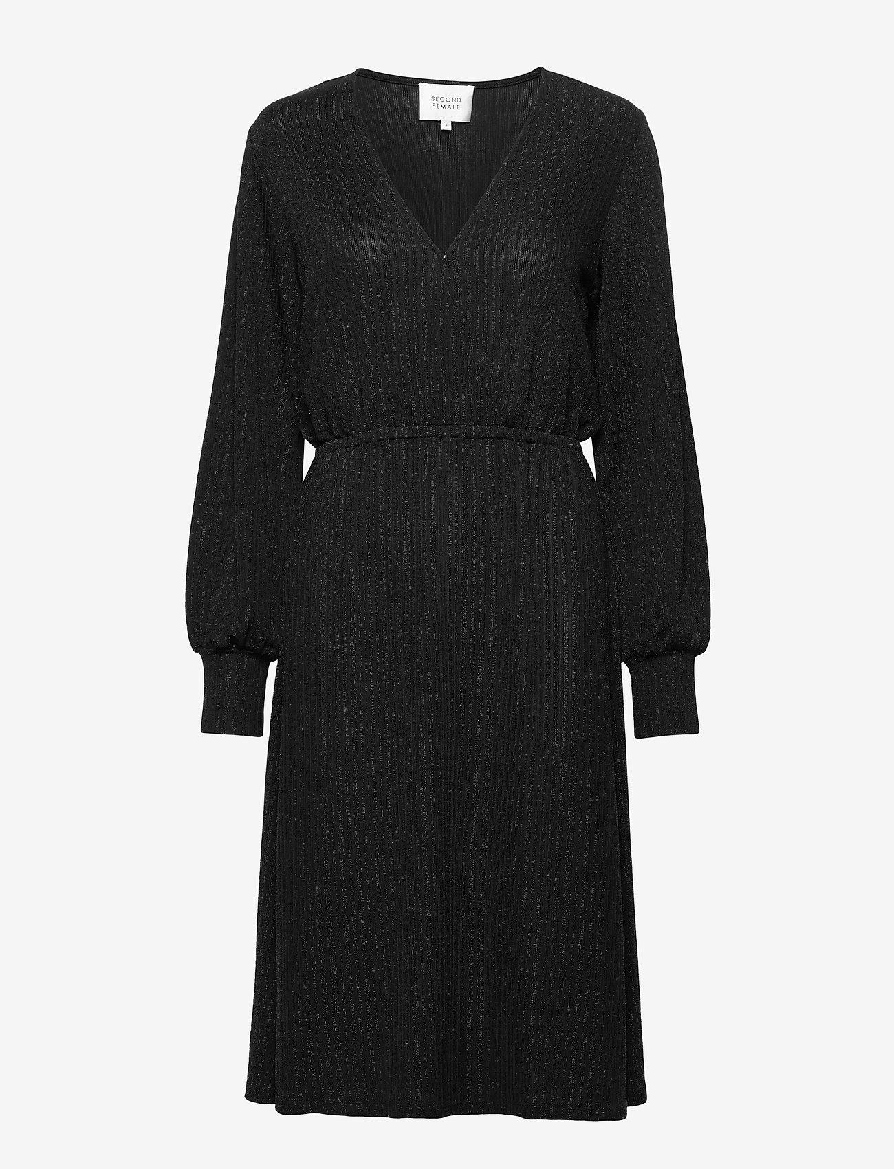 Second Female - Zoe Dress - vardagsklänningar - black - 0