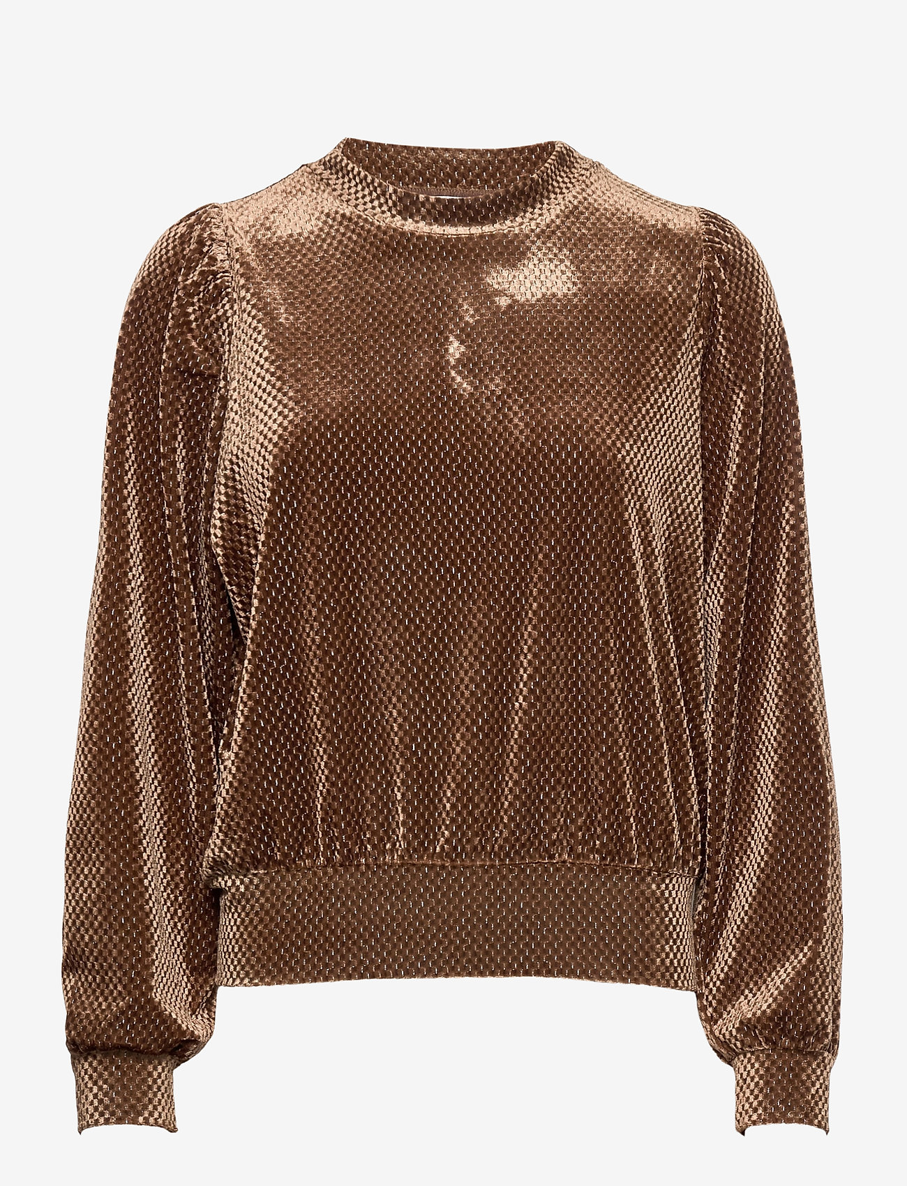 Second Female - This long sleeved sweater is made in a beautful,  structured - långärmade blusar - sepia tint - 0