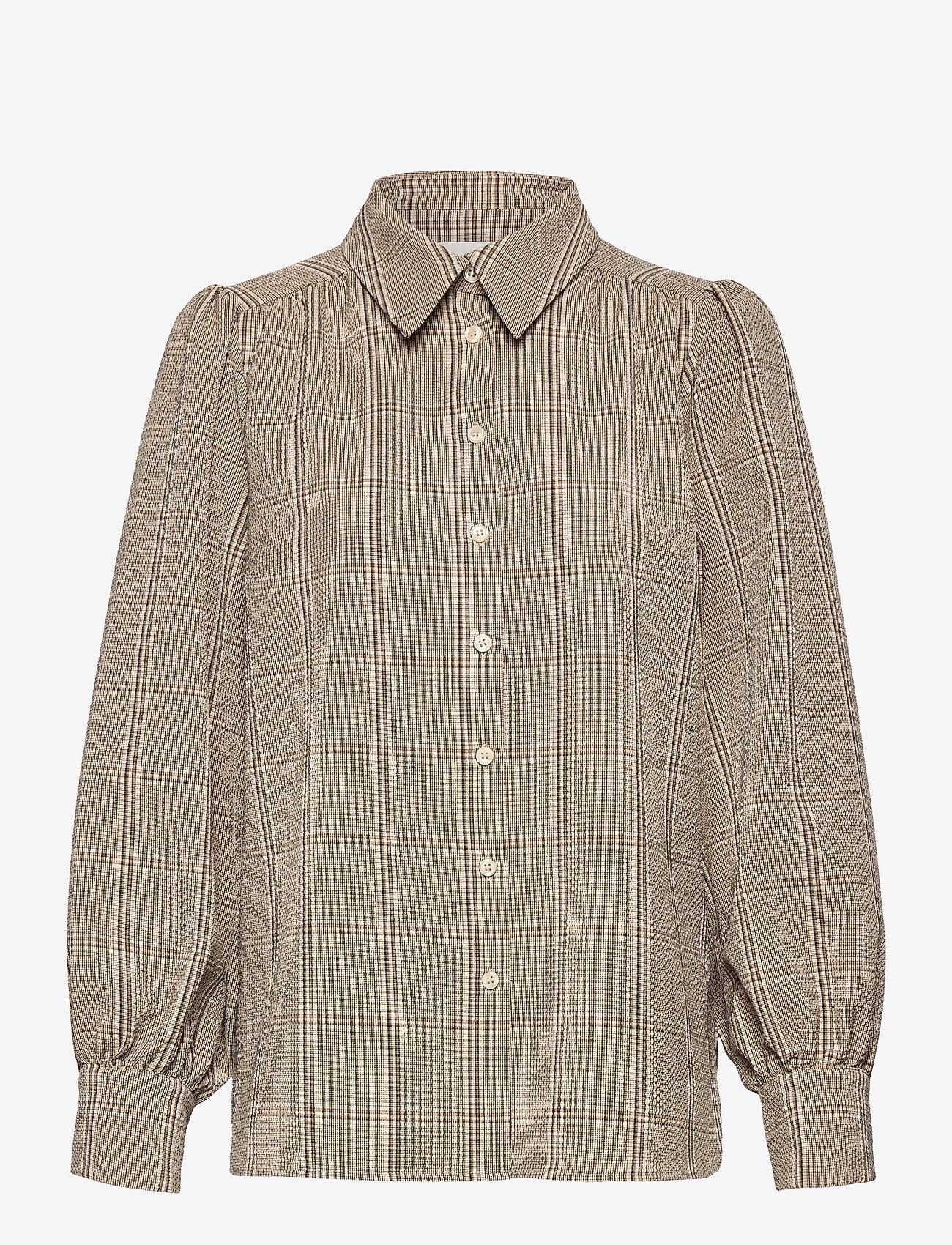 Second Female - Felicia Shirt - långärmade skjortor - sepia tint - 0