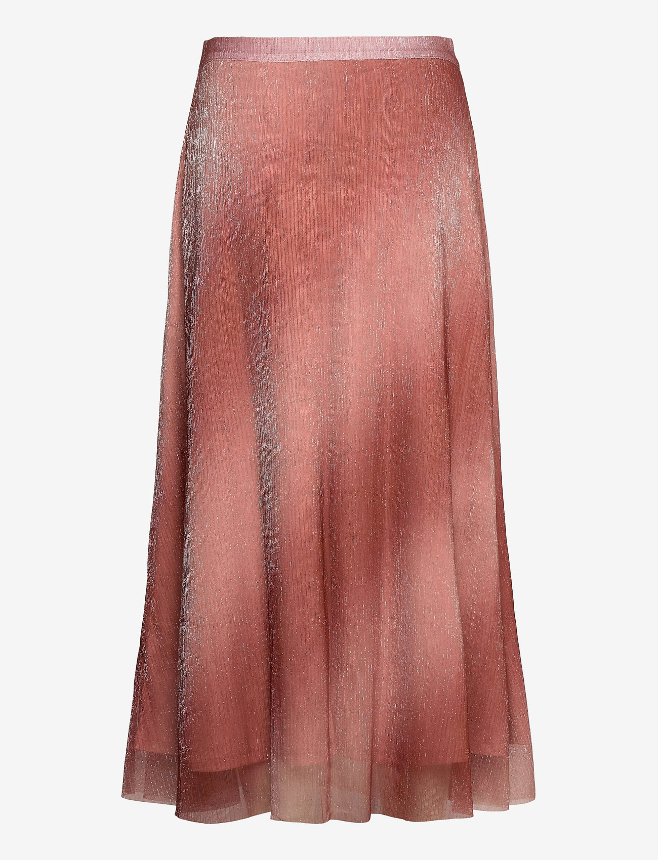 Second Female - Pleated, midi skirt in a beautiful shimmery  polyester mix q - midi kjolar - dusty rose - 1