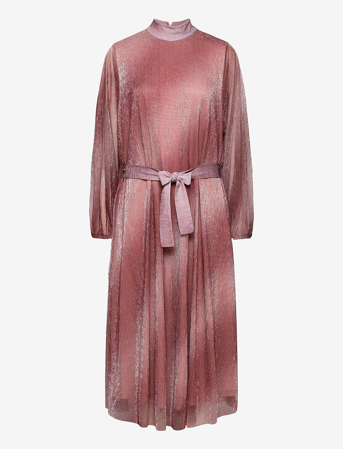 Second Female - Pleated dress in a beautiful shimmery polyester  mix quality - aftenkjoler - dusty rose - 0