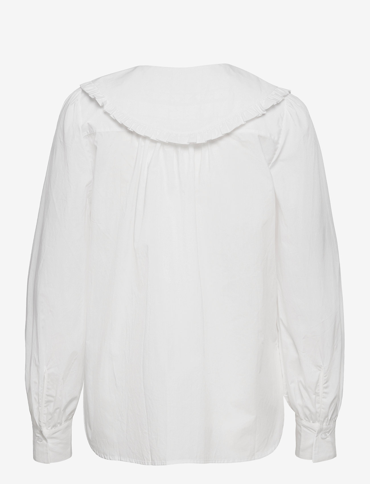 This 100% Cotton Shirt Has An Unique OversizedFrilled Coll (White) (95 €) - Second Female ZlO1e