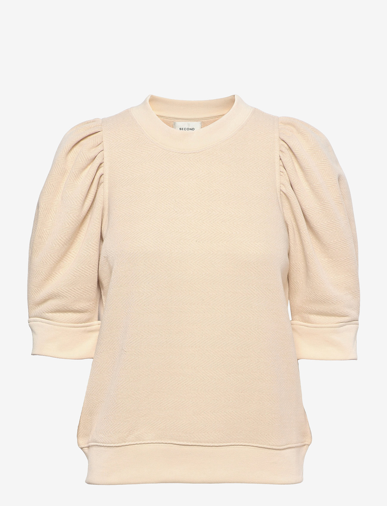 Second Female - Dawni Sweat Tee - stickade toppar - off white - 0
