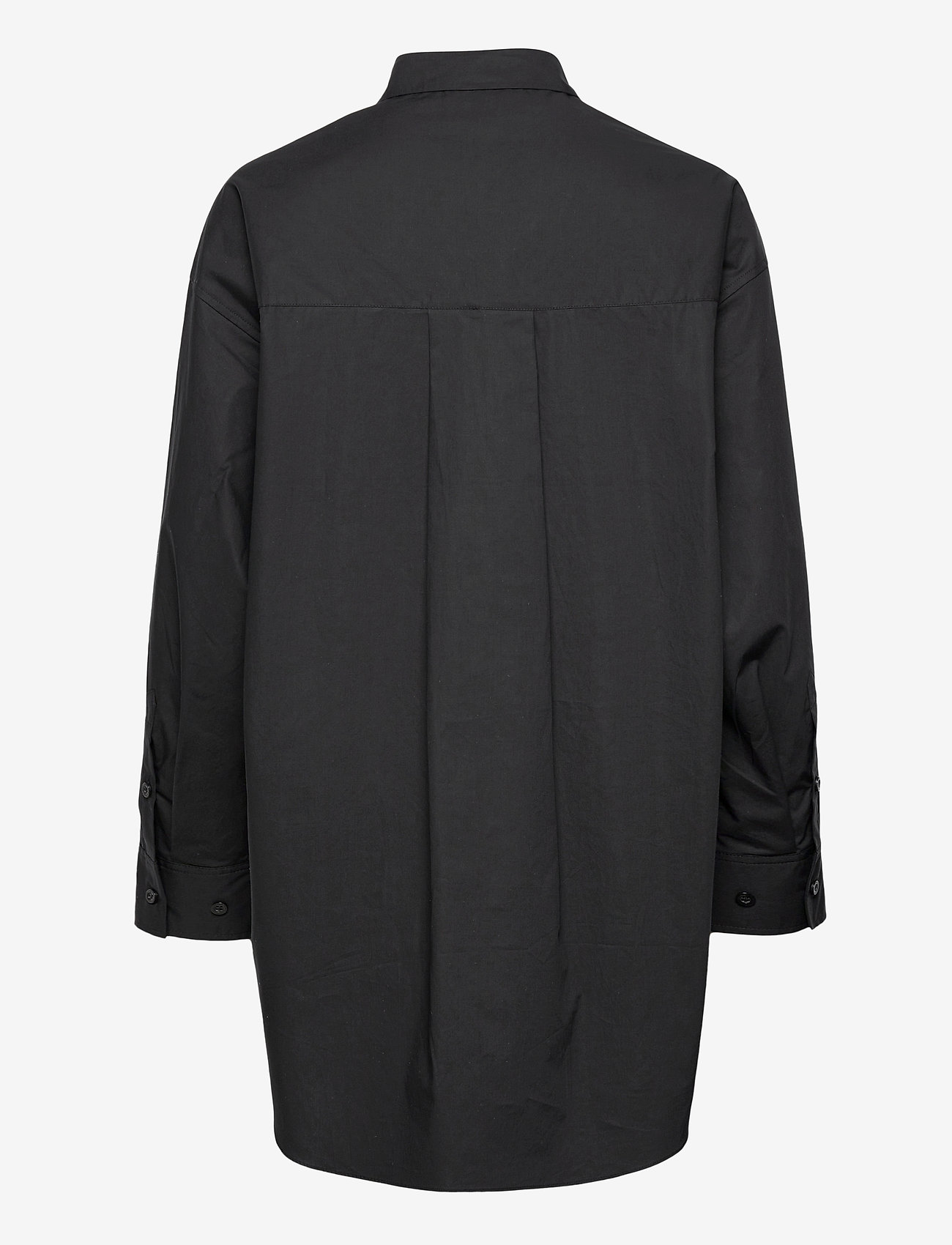 Second Female - Larkin Oversized Shirt - långärmade skjortor - black - 1