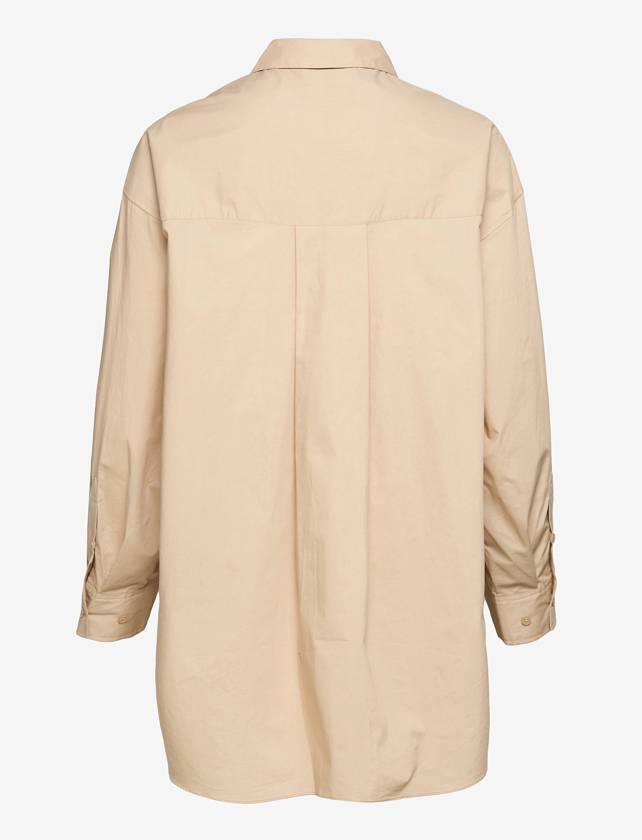 Second Female - Larkin Oversized Shirt - långärmade skjortor - humus - 1