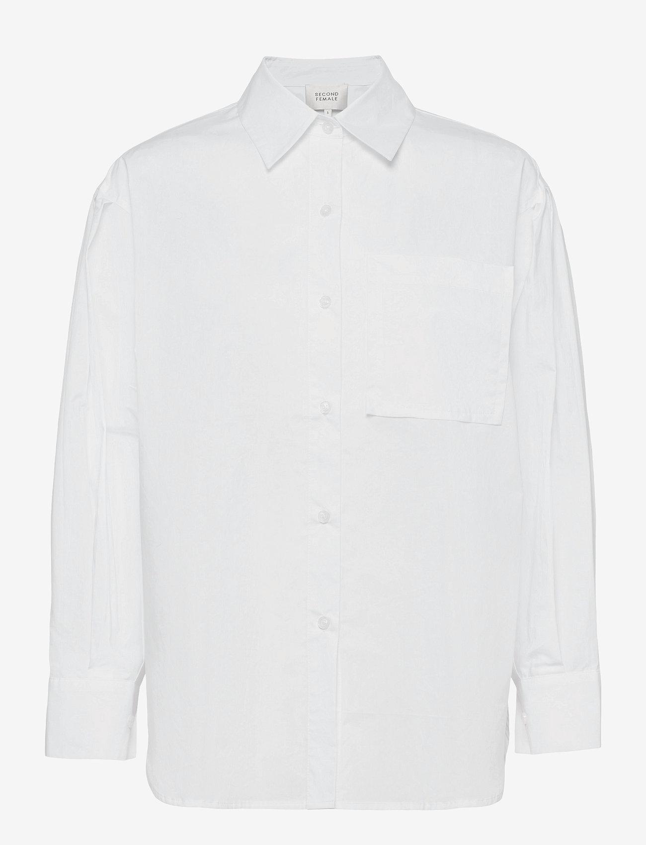 Second Female - Larkin New Shirt - långärmade skjortor - white - 1