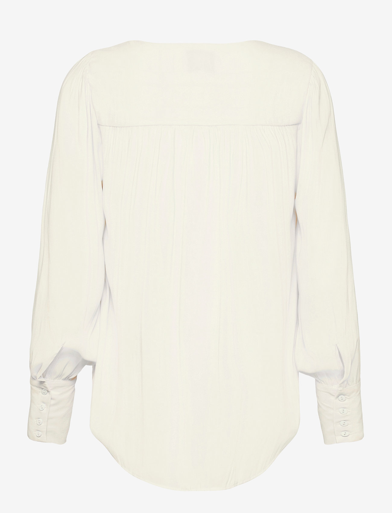 Second Female - This shirt is made in a semi-shiny luxurious  polyester comp - langærmede bluser - eggnog - 1