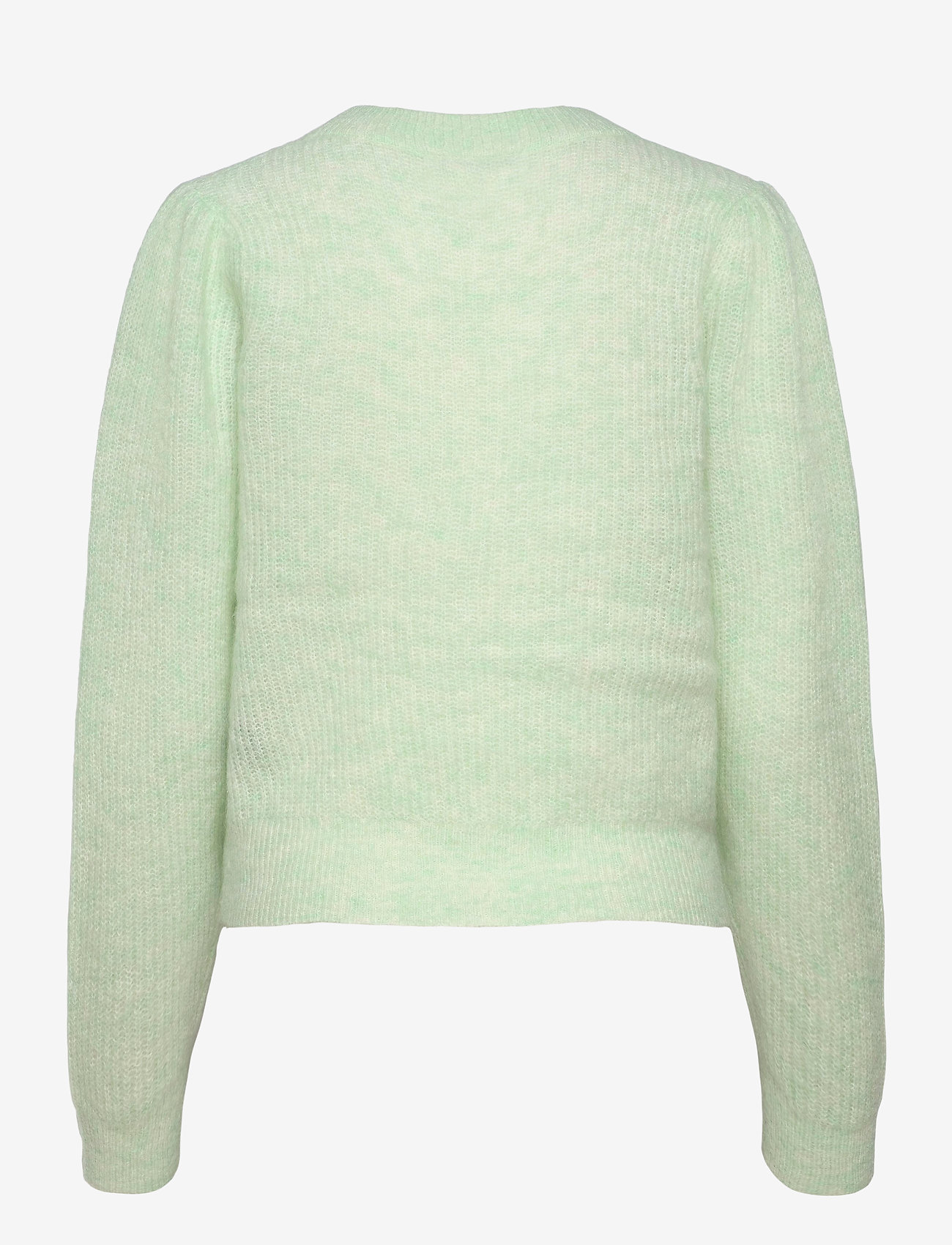 Second Female - Brooky Knit Puff O-Neck - tröjor - clearly aqua - 1