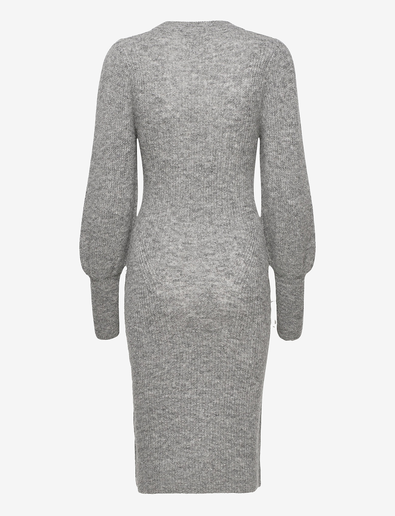 Second Female - Mika Knit Dress - vardagsklänningar - grey melange - 1