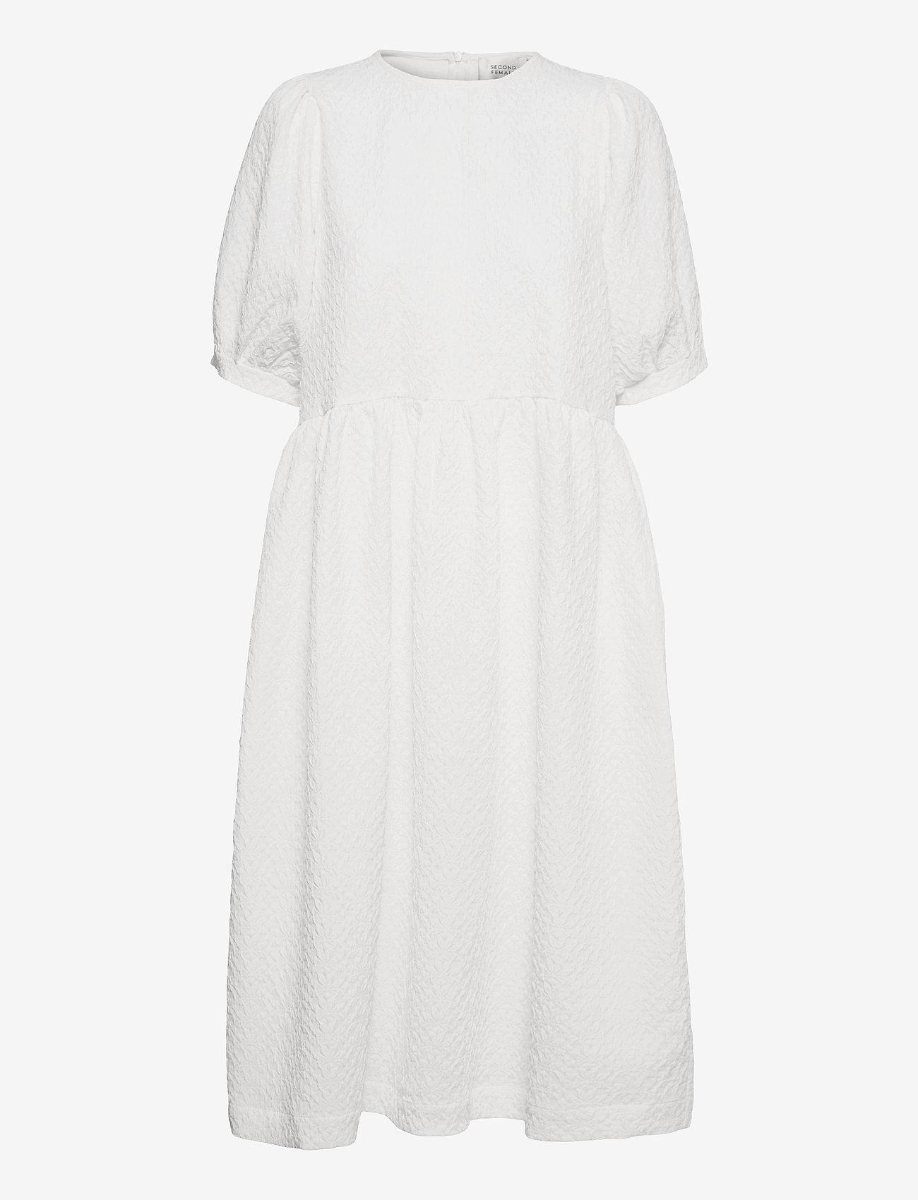 Second Female - Leah Dress - sommarklänningar - white - 0
