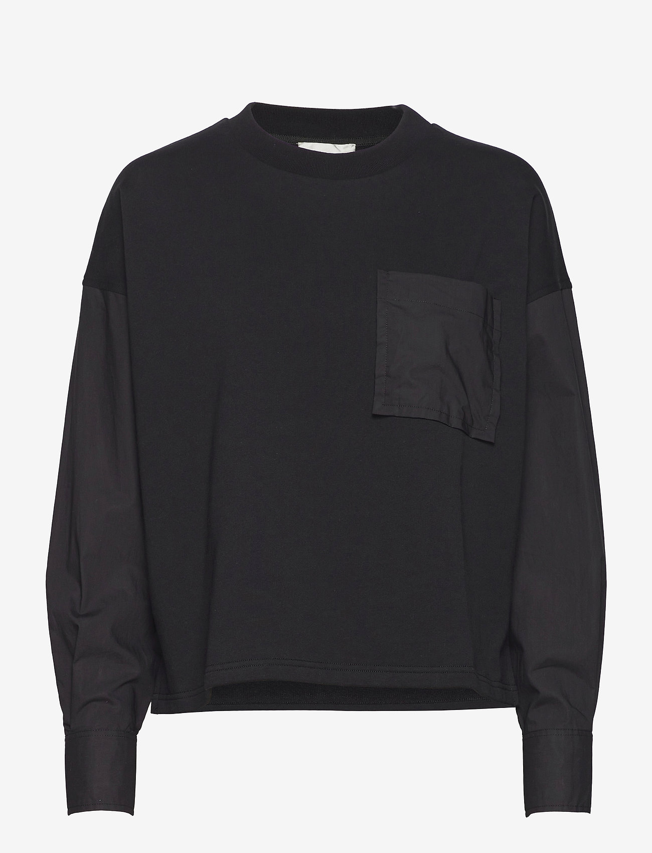 Second Female - Joffe Oversized Sweat - långärmade toppar - black - 0