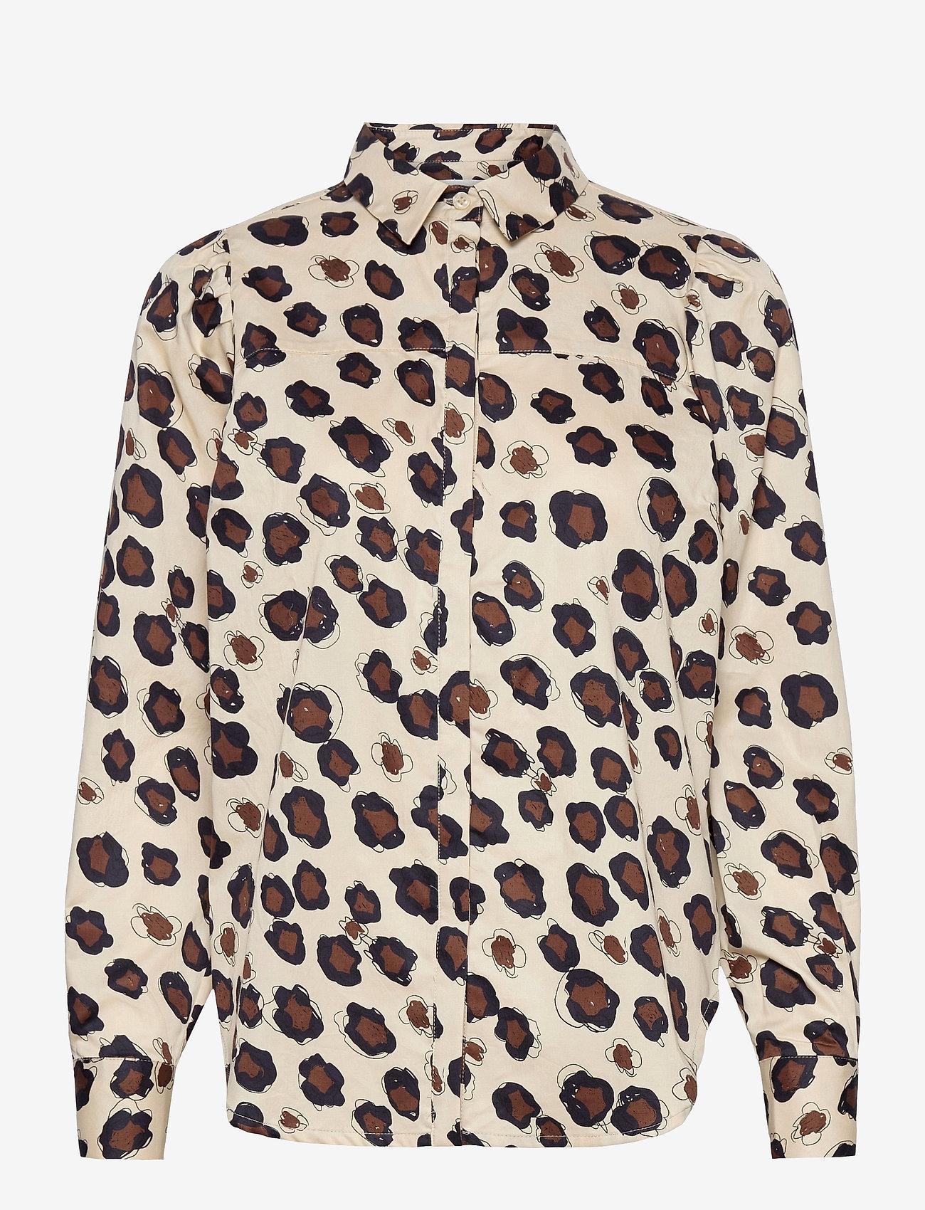 Second Female - Daisies Shirt - långärmade skjortor - brazilian sand - 0