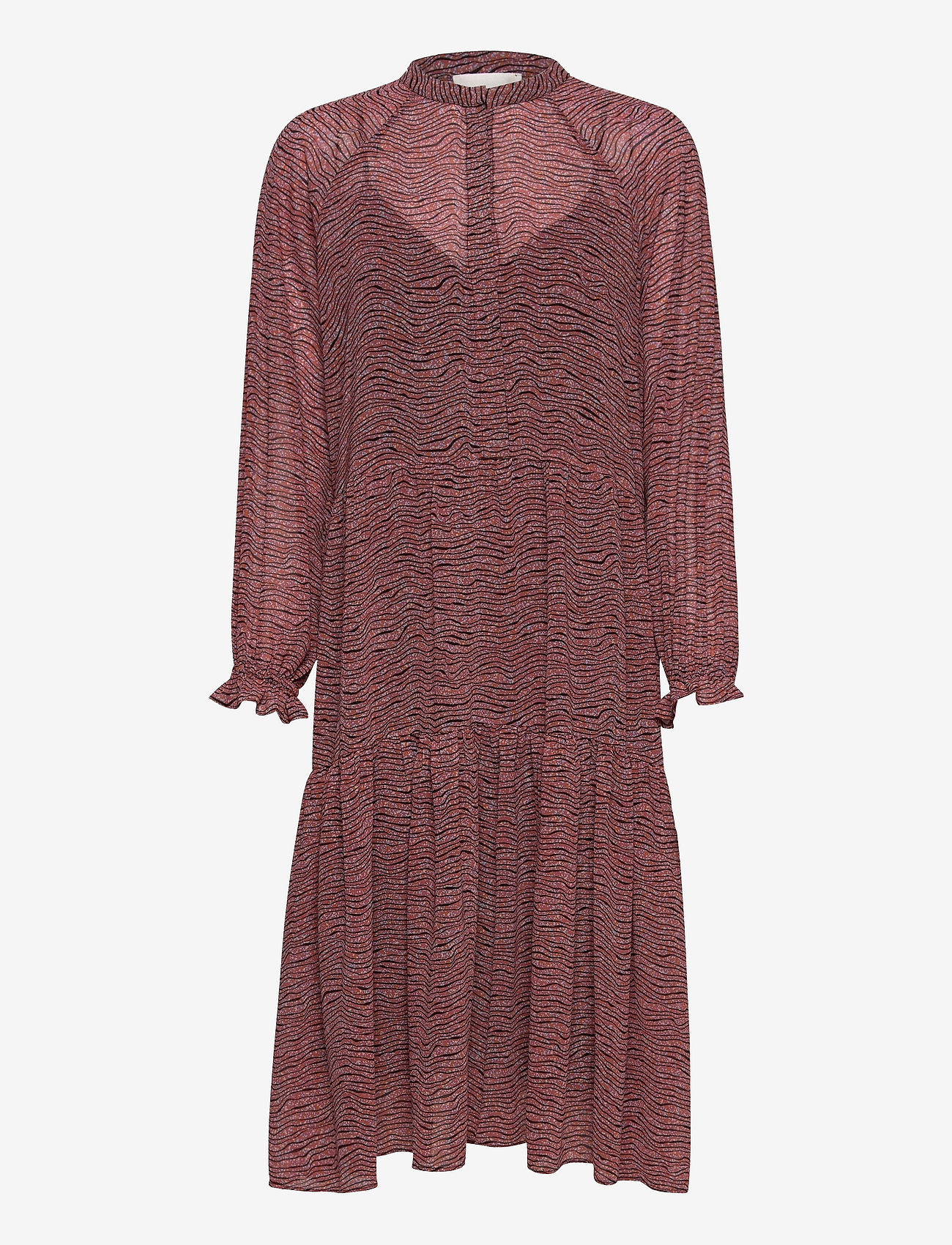 Second Female - Venezia Midi Dress - vardagsklänningar - roan rouge - 0