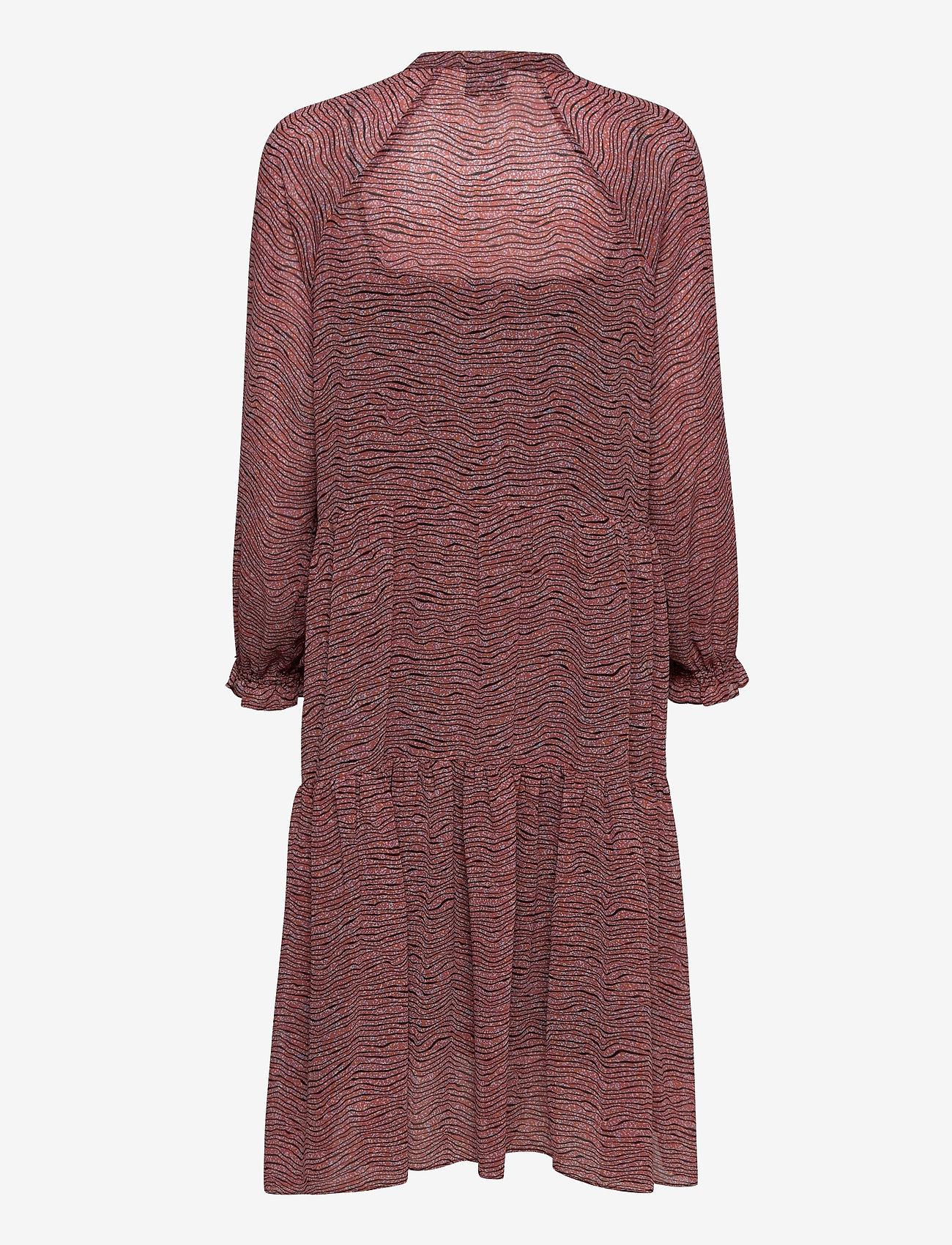 Second Female - Venezia Midi Dress - vardagsklänningar - roan rouge - 1