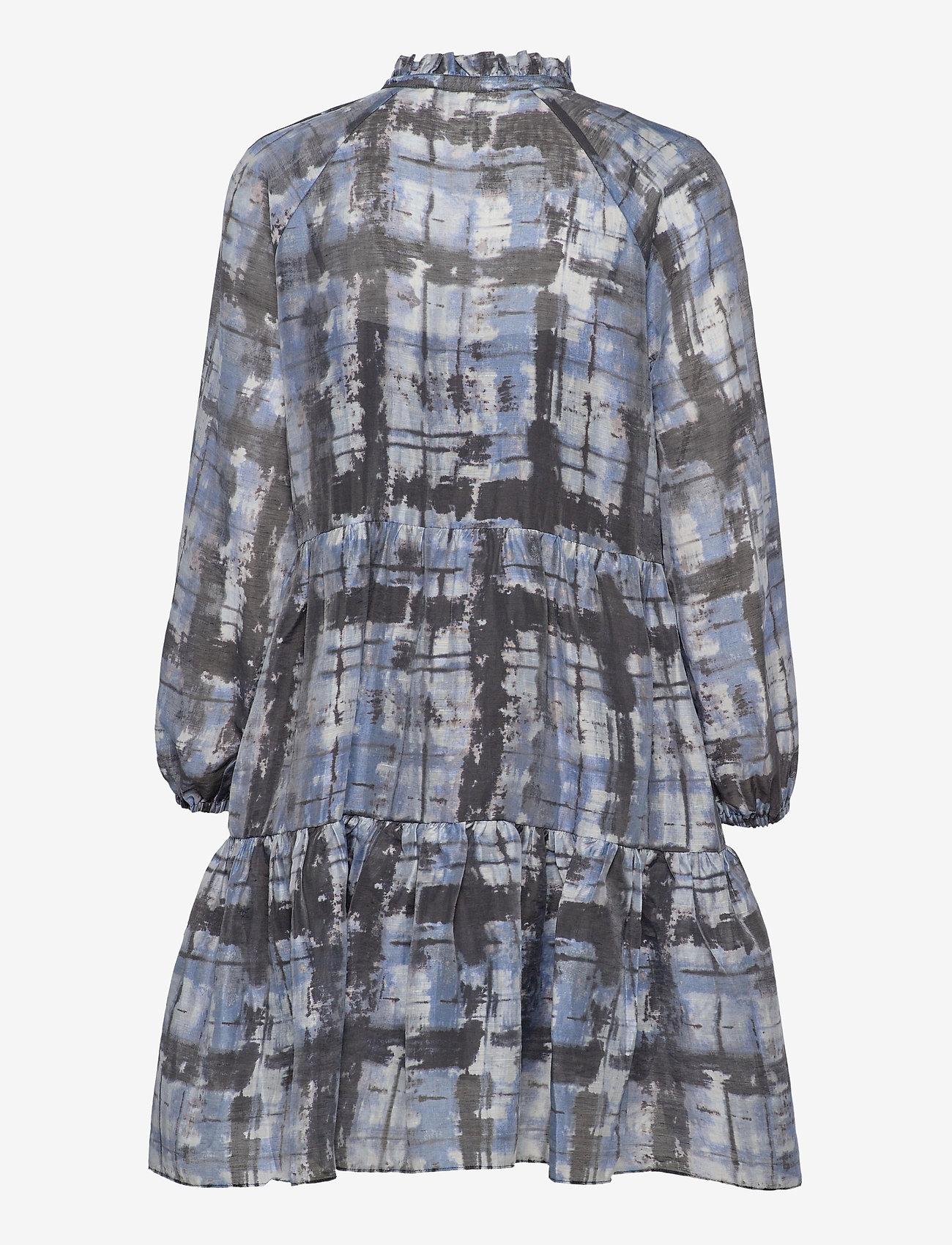 Second Female - Imprint Dress - sommerkjoler - blue shadow - 2