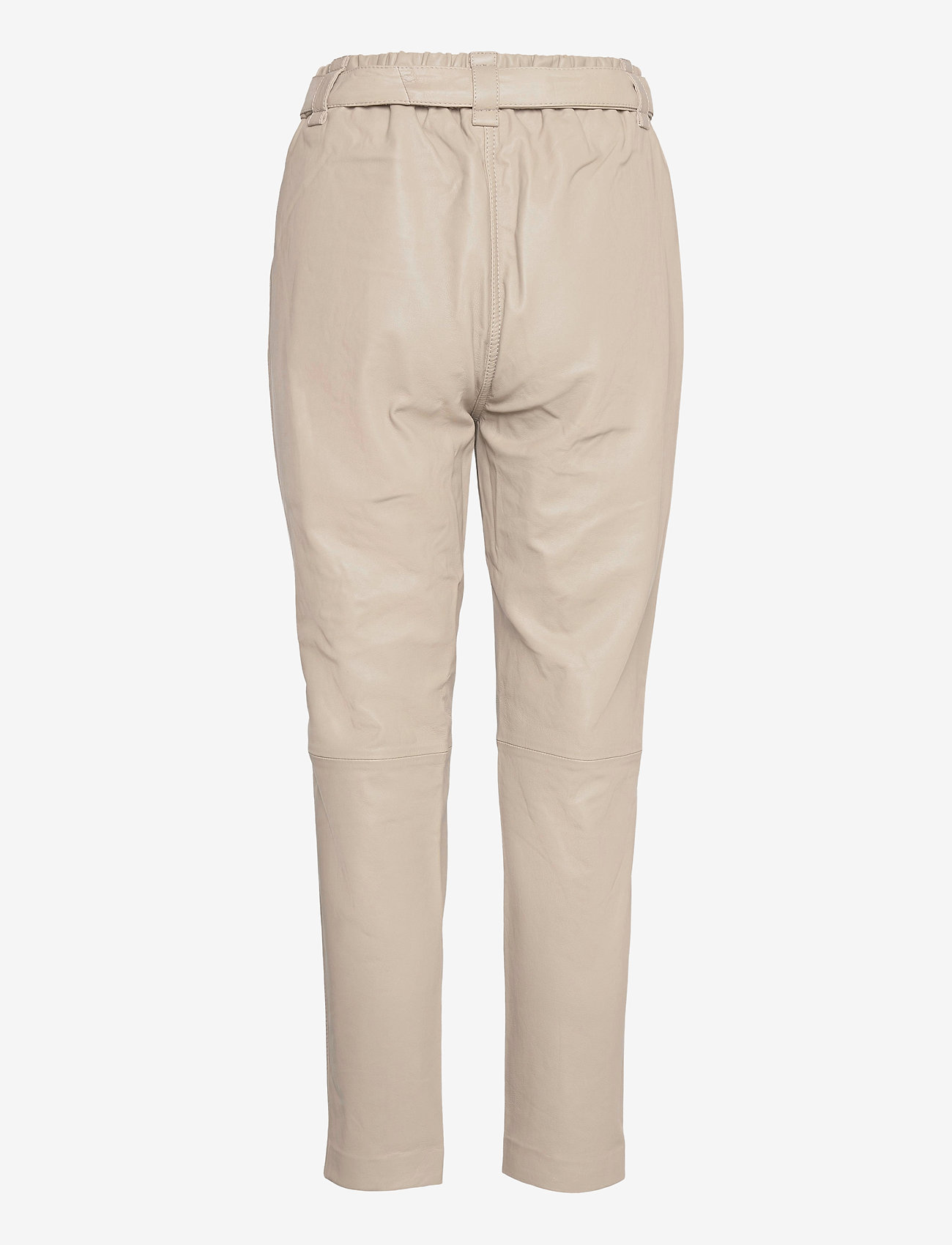 Second Female - Indie Leather New Trousers - læderbukser - humus - 1