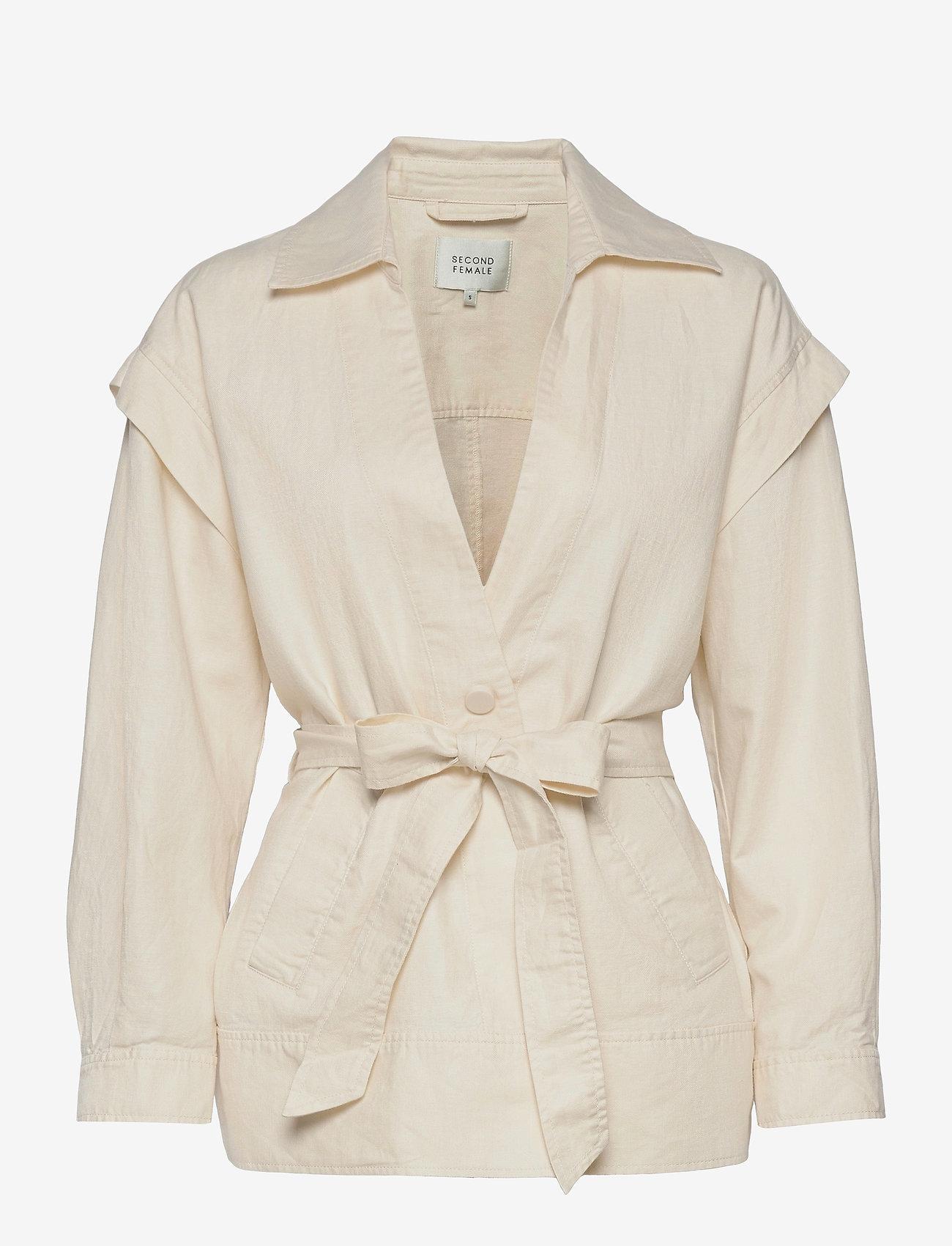 Second Female - Selene New Jacket - tunna jackor - white swan - 0