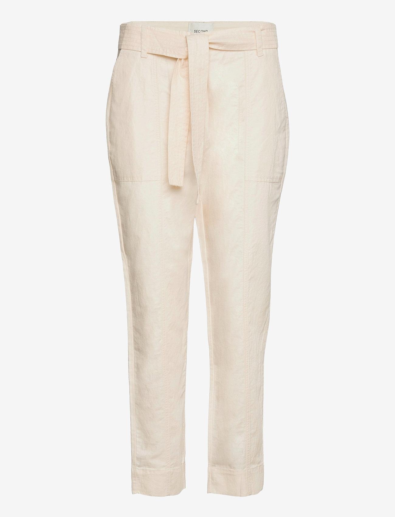 Second Female - Selene New Track Trousers - raka byxor - white swan - 1