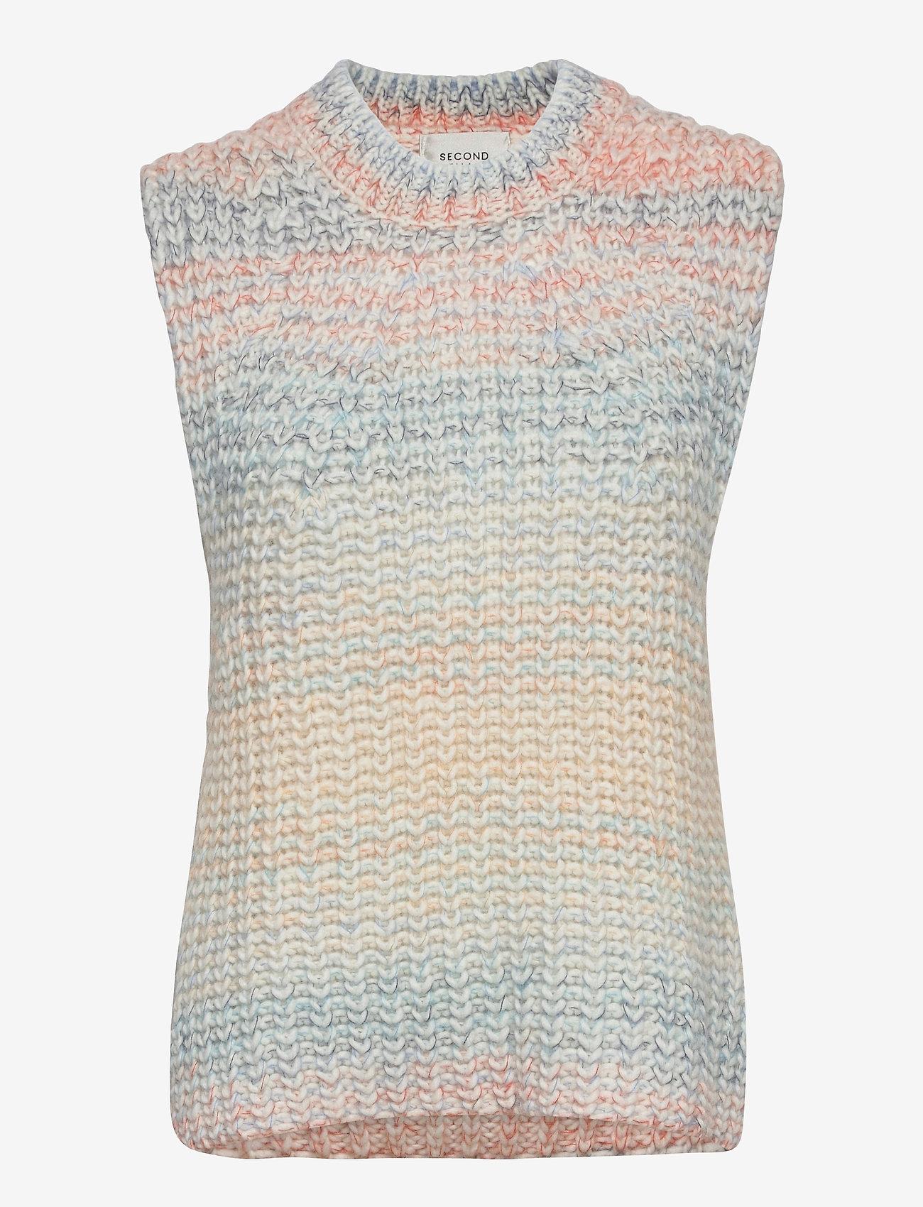 Second Female - Elsa Knit Vest - knitted vests - brunnera blue - 1