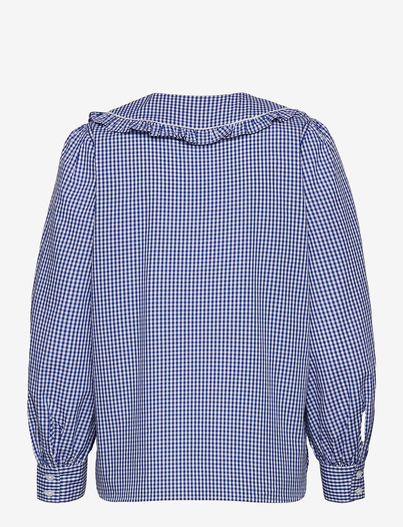 Second Female - Toto Shirt - långärmade blusar - deep ultramarine - 1