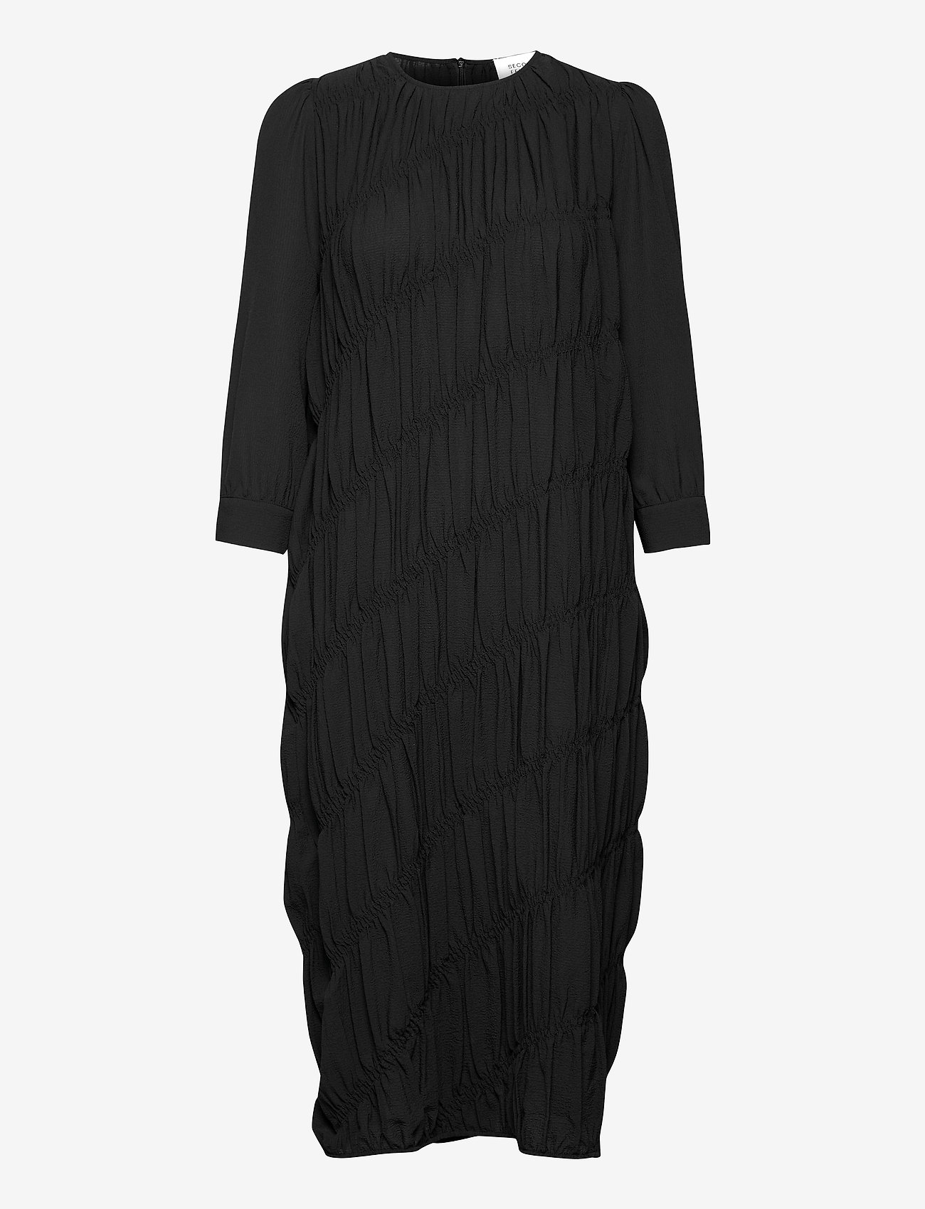 Second Female - Mazla Dress - sommarklänningar - black - 0