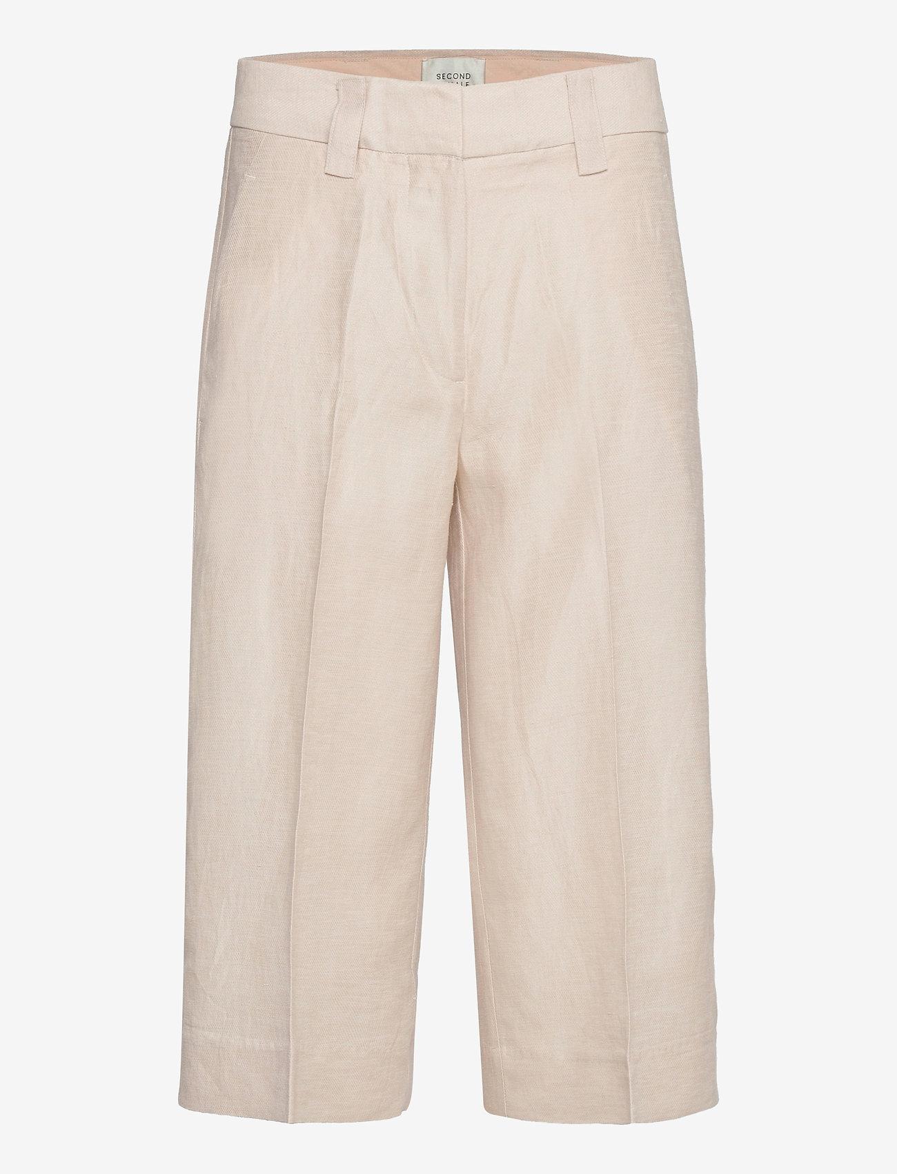 Second Female - Lia Culotte - bukser med brede ben - chateau gray - 0