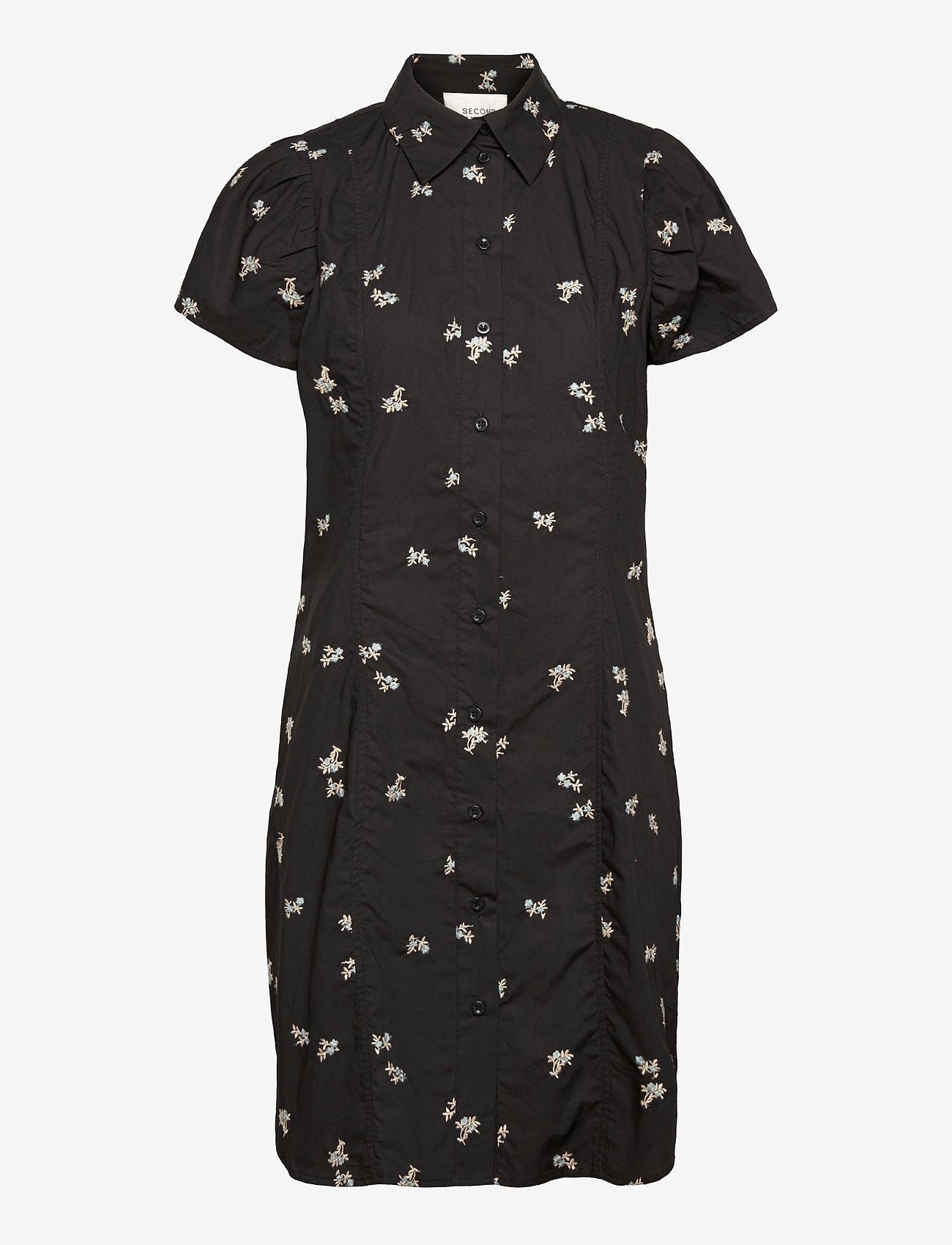 Second Female - California Dress - sommarklänningar - black - 1