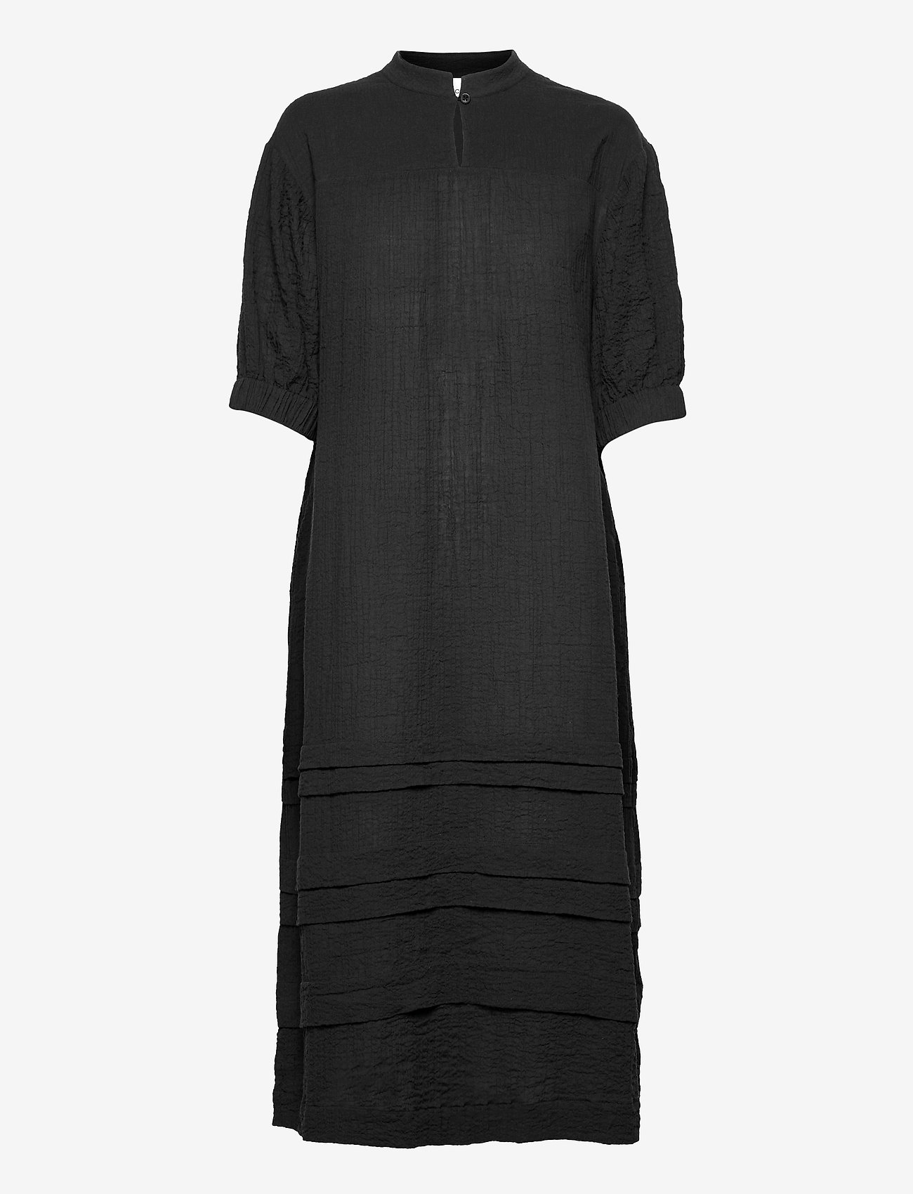 Second Female - Mallorca Midi Dress - sommarklänningar - black - 1