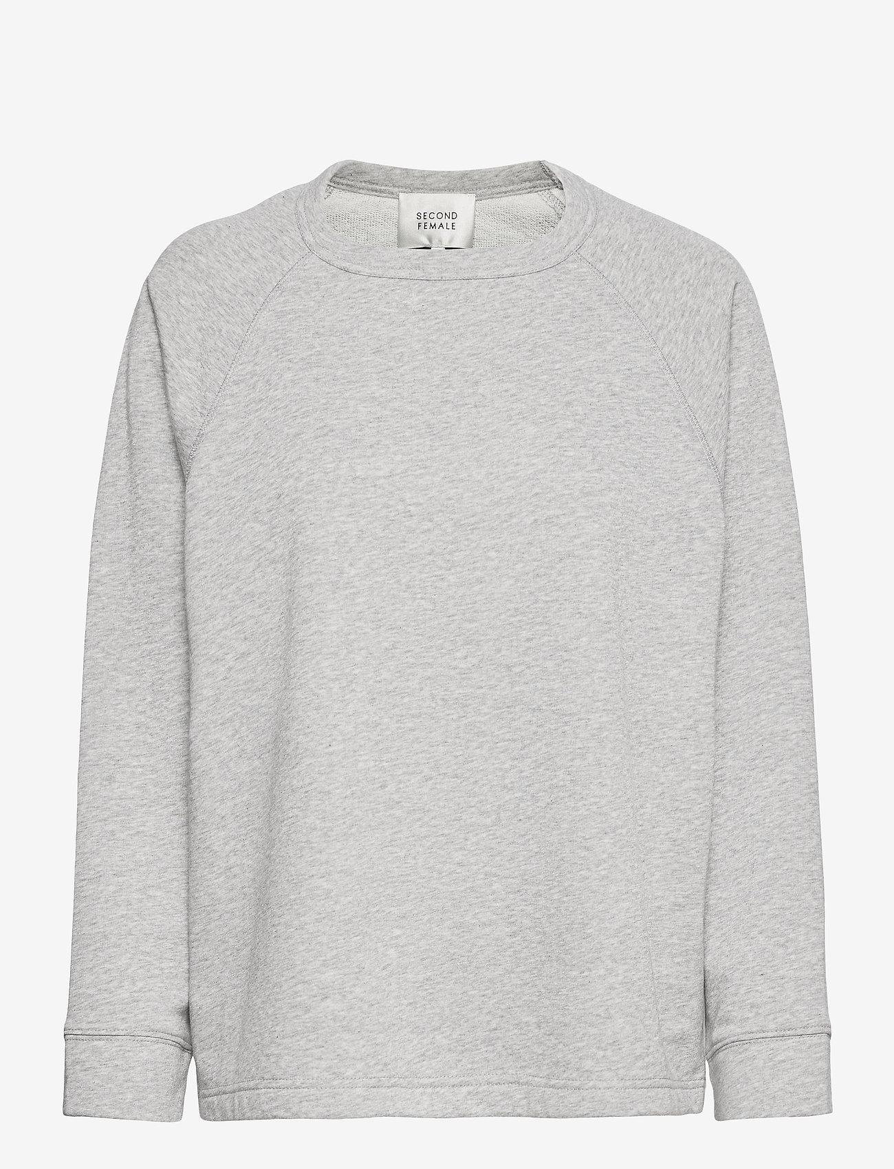 Second Female - Osaka Sweat - sweatshirts - grey melange - 1