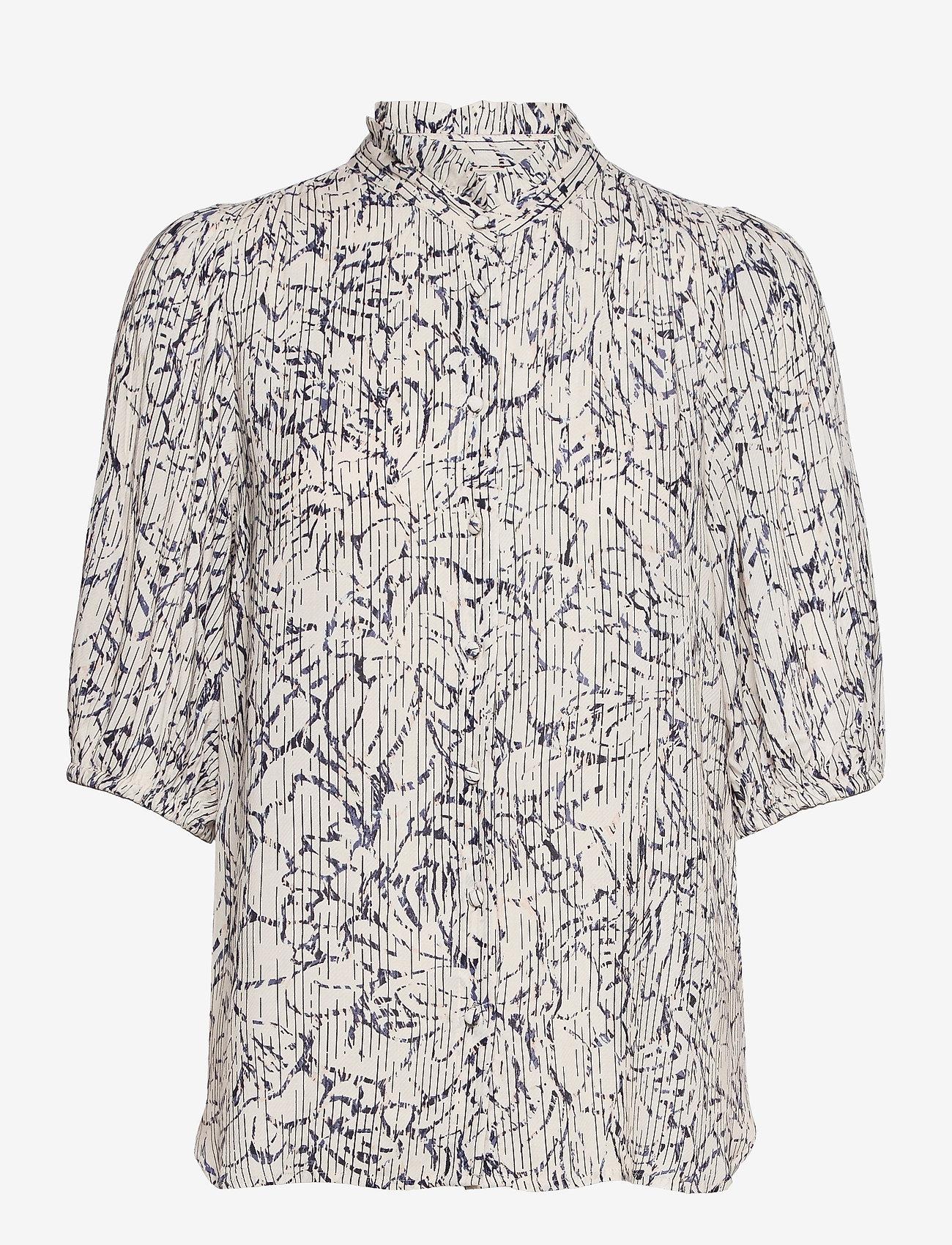 Second Female - Fiji Shirt - kortärmade skjortor - bright white - 1