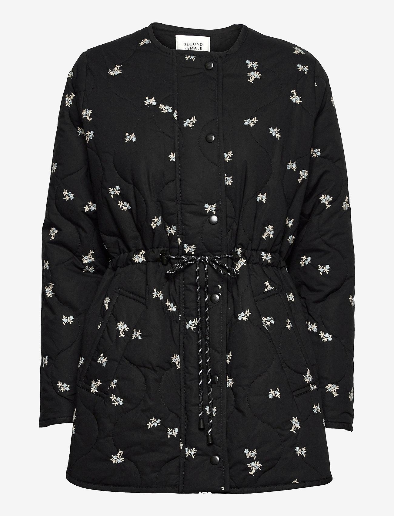 Second Female - California Quilt Jacket - quiltade jackor - black - 1