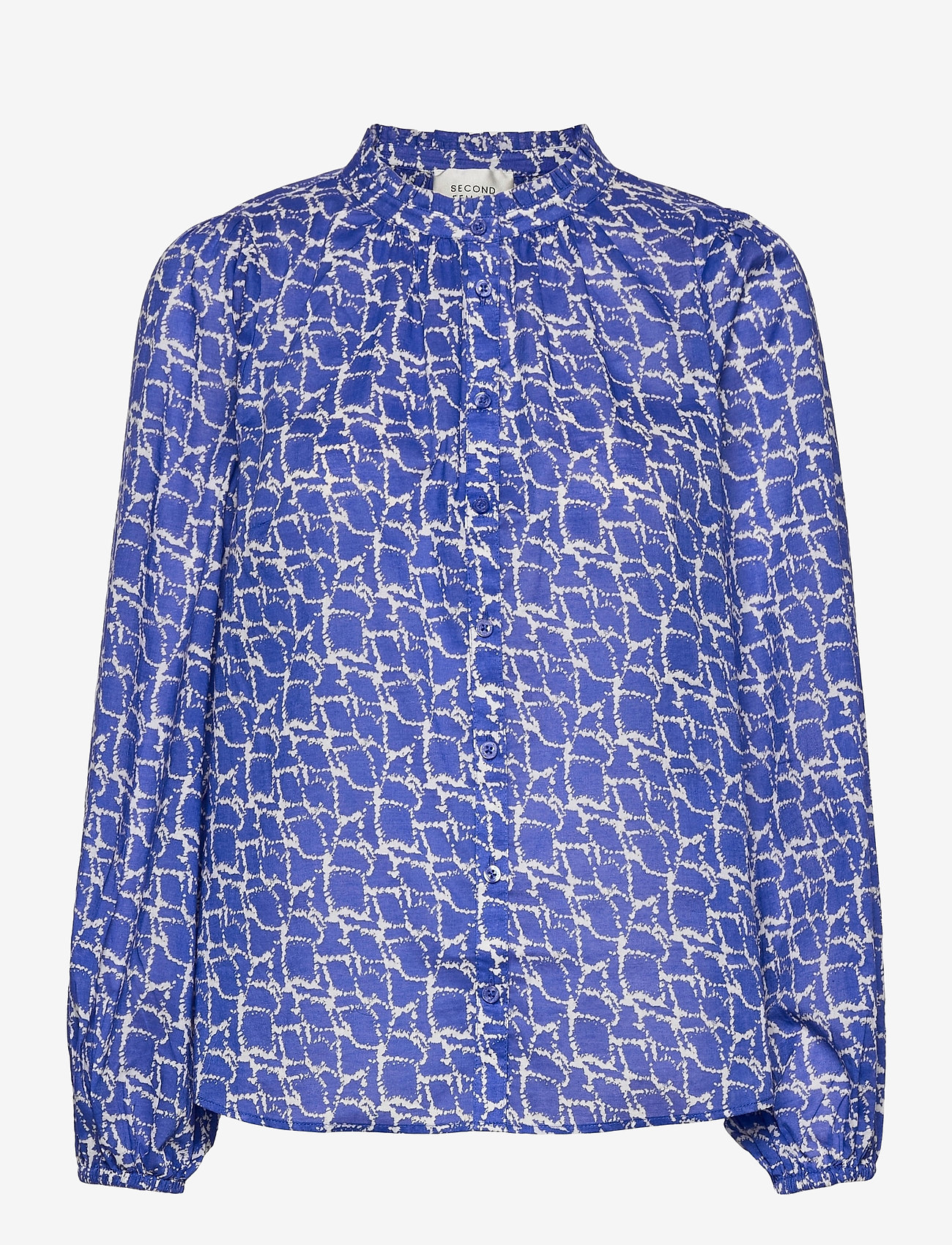 Second Female - Dayly Simple Shirt - långärmade blusar - deep ultramarine - 0